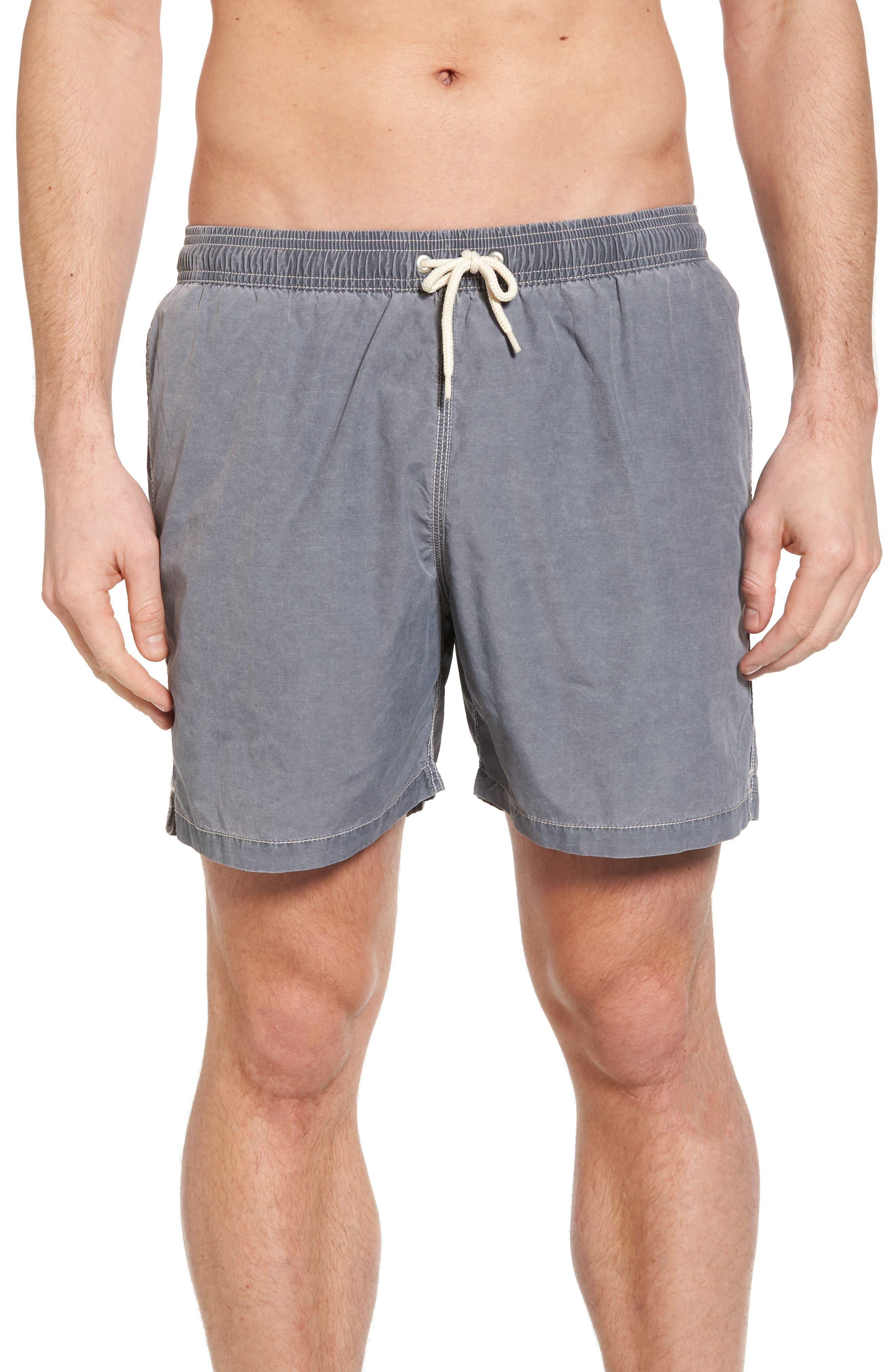 Victor Swim Trunks,                         Main,                         color, Slate Grey
