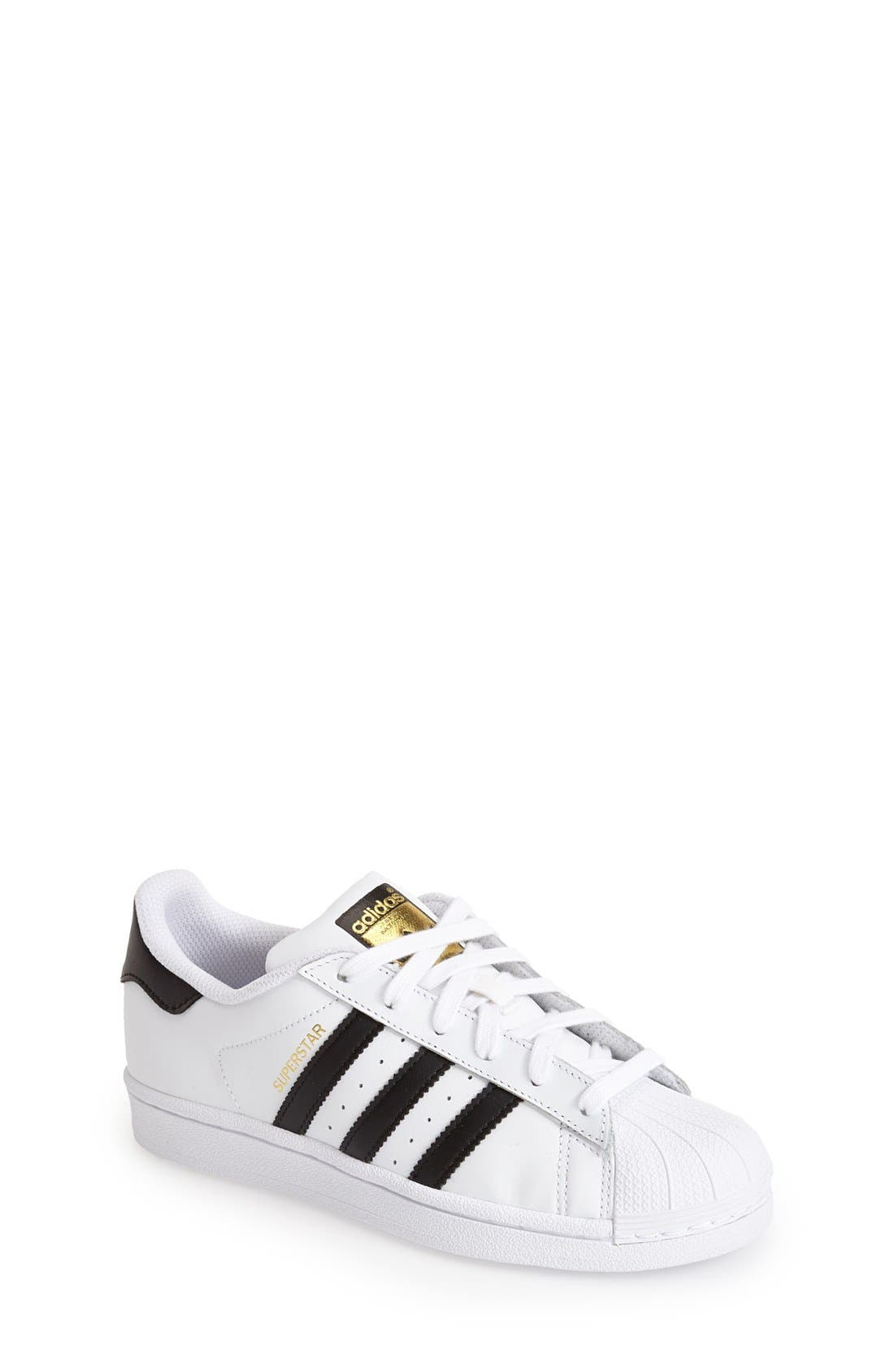 Main Image - adidas \u0027Superstar II\u0027 Sneaker (Big Kid). Color: White/ Black/  White