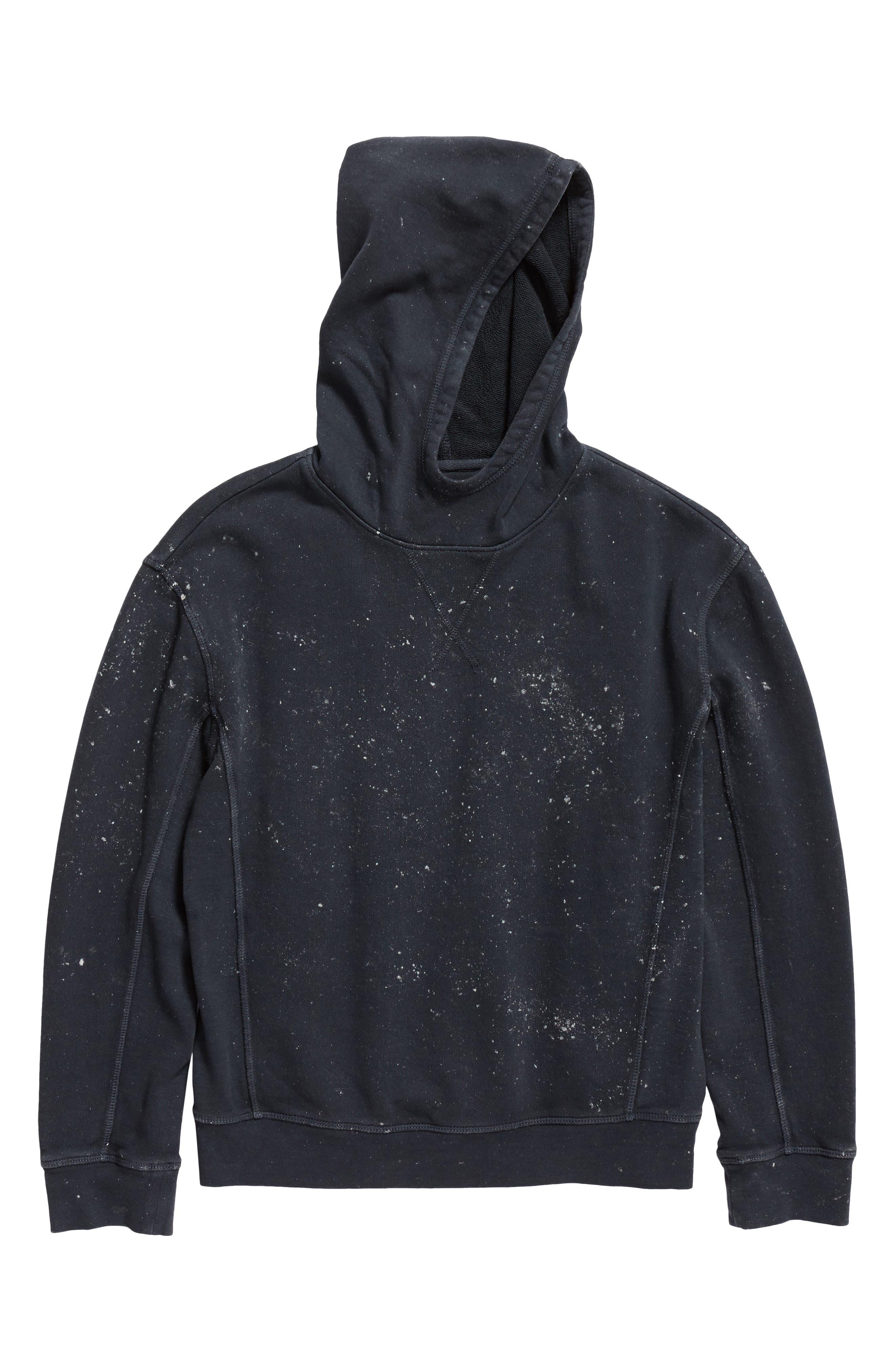 Paint Splatter Pullover Hoodie,                         Main,                         color, Navy Armada Paint Splatter