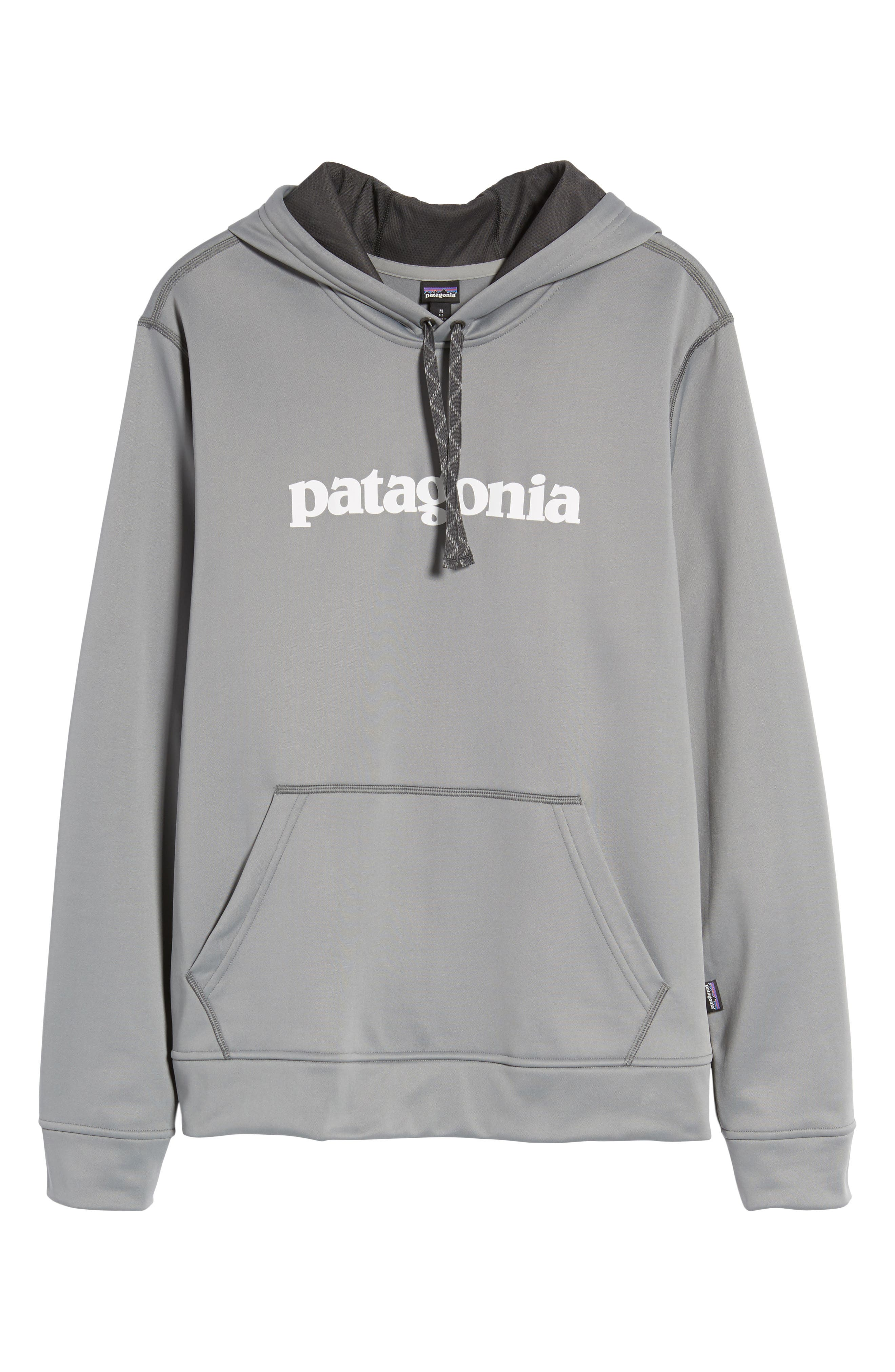 Polycycle Hoodie,                             Alternate thumbnail 6, color,                             Feather Grey/ White
