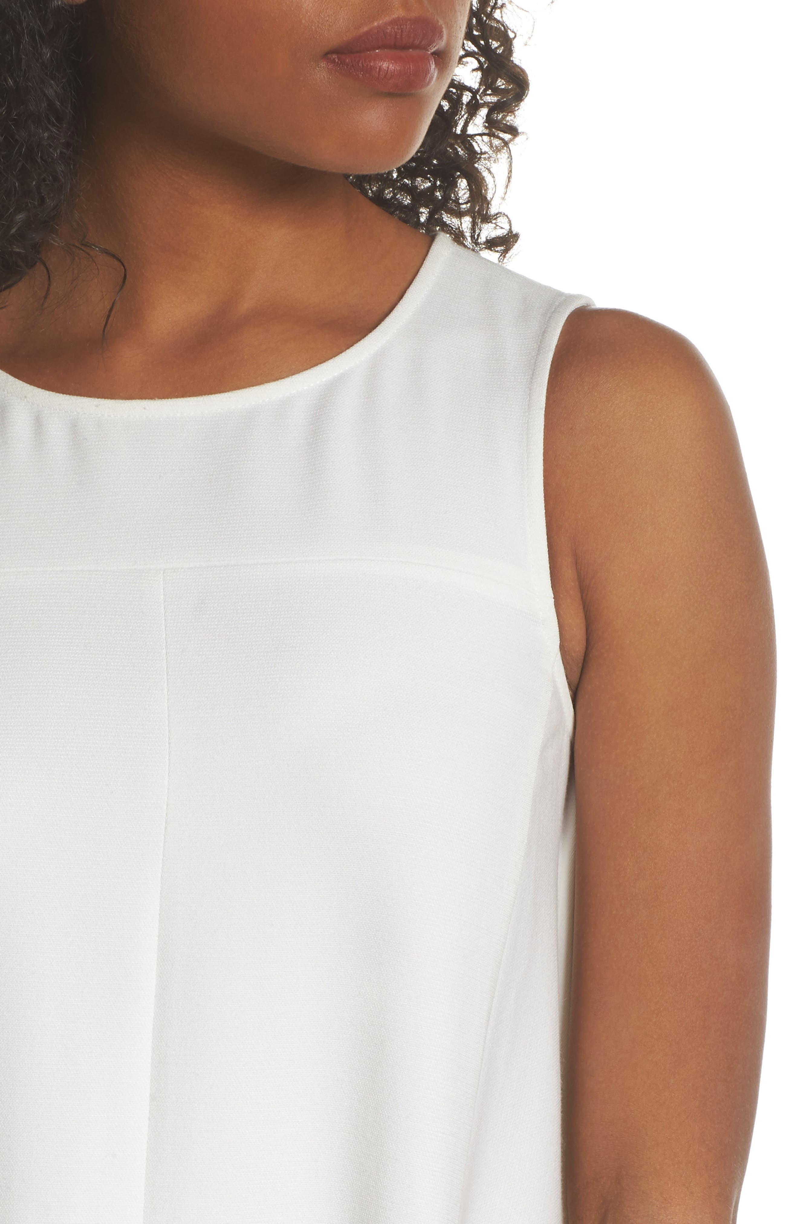 Sunday Brunch Sleeveless Midi Dress,                             Alternate thumbnail 4, color,                             White