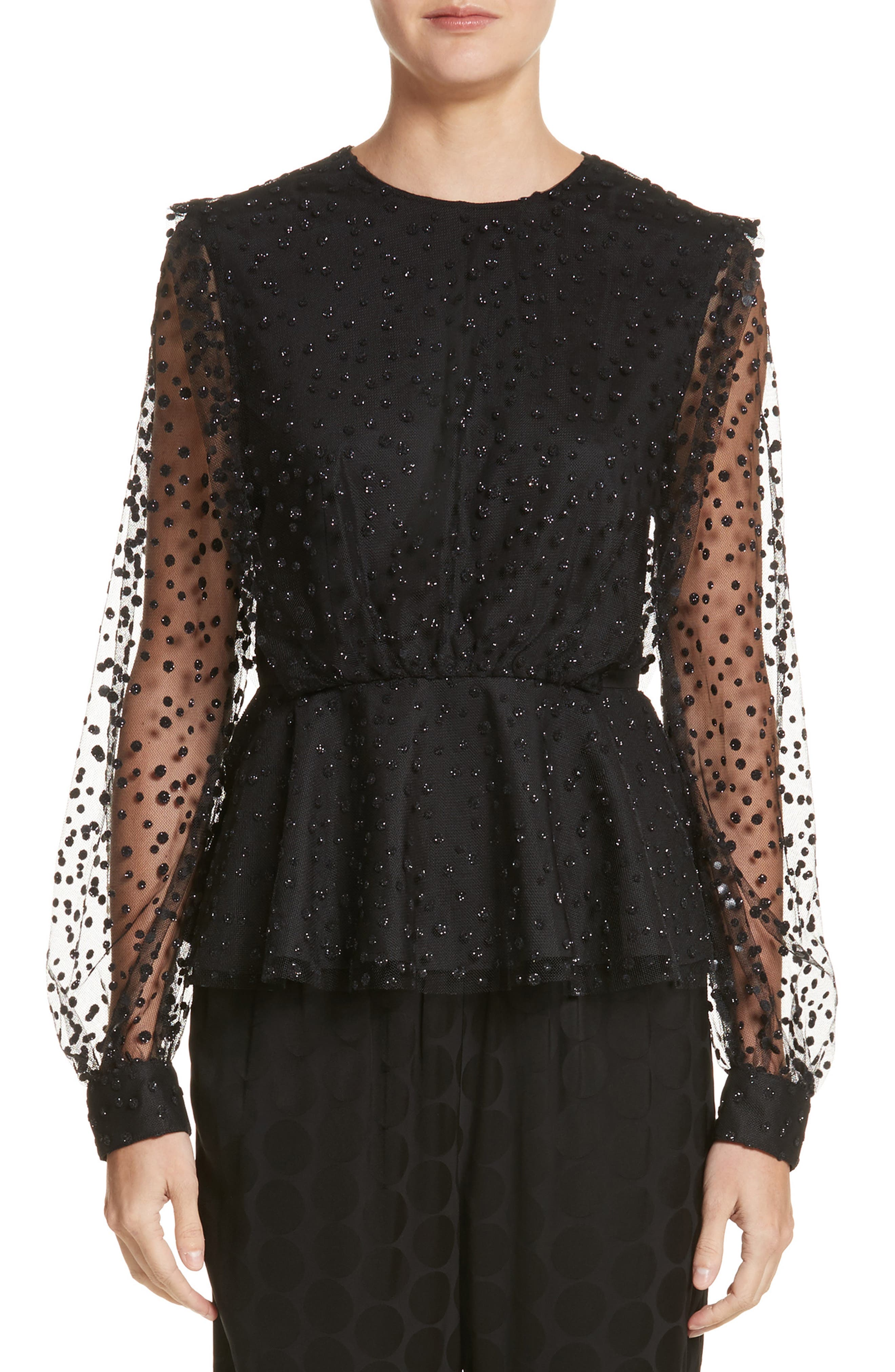 Co Sparkle Dot Tulle Top