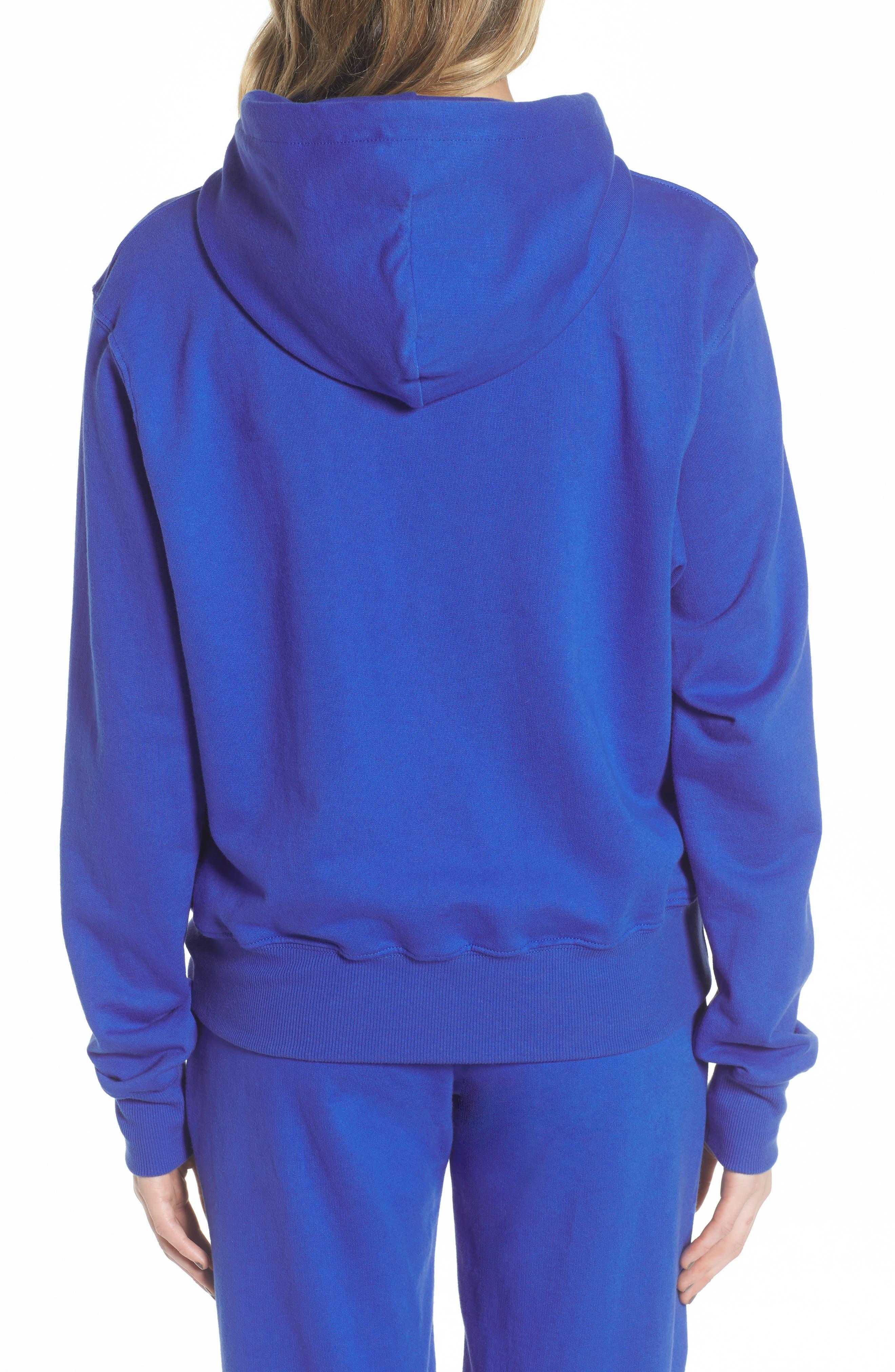 ME. Rose Pullover Hoodie,                             Alternate thumbnail 2, color,                             Royal Blue