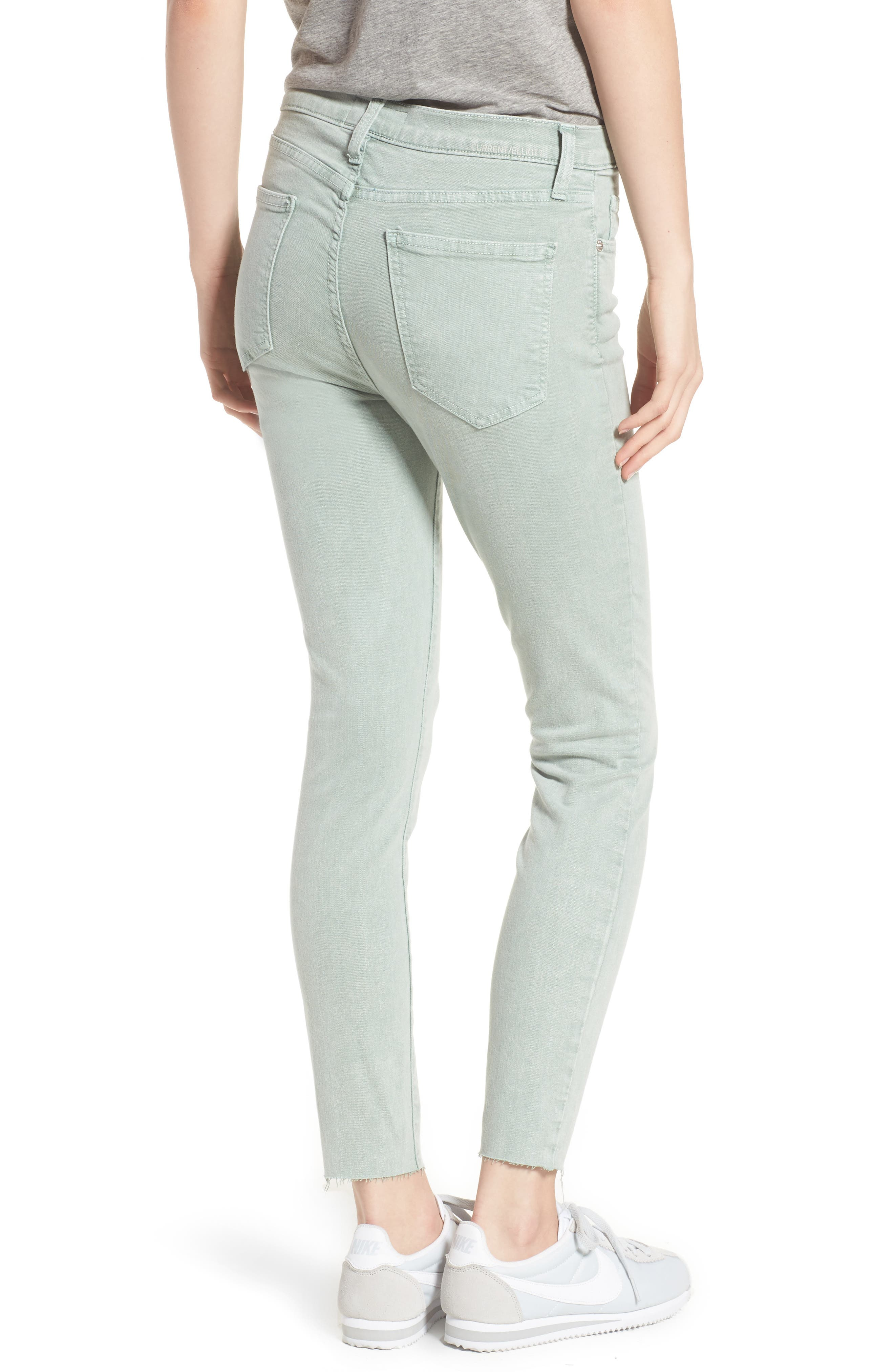 The High Waist Ankle Skinny Jeans,                             Alternate thumbnail 2, color,                             Iceberg Green