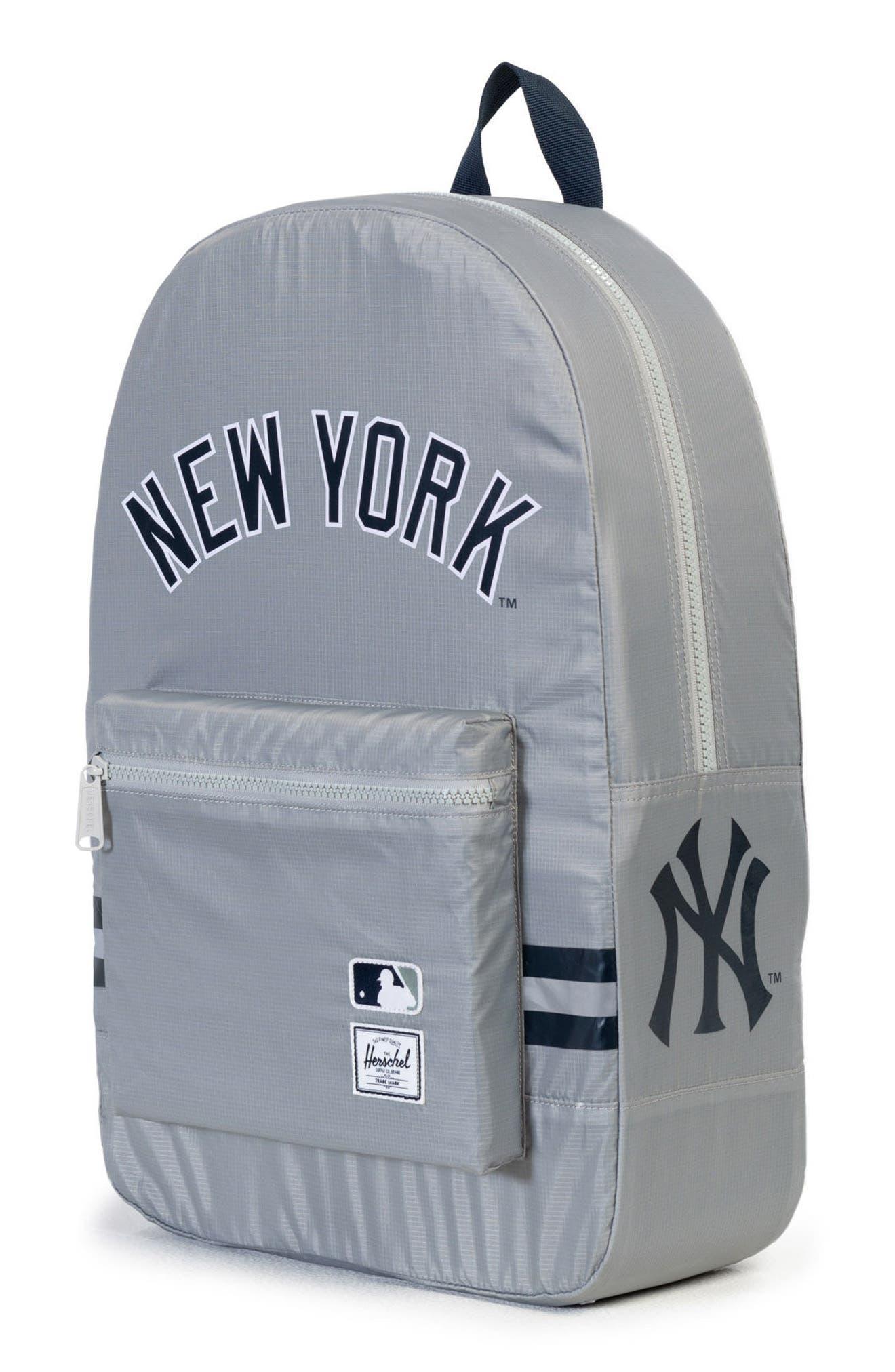 Packable - MLB American League Backpack,                             Alternate thumbnail 3, color,                             New York Yankees
