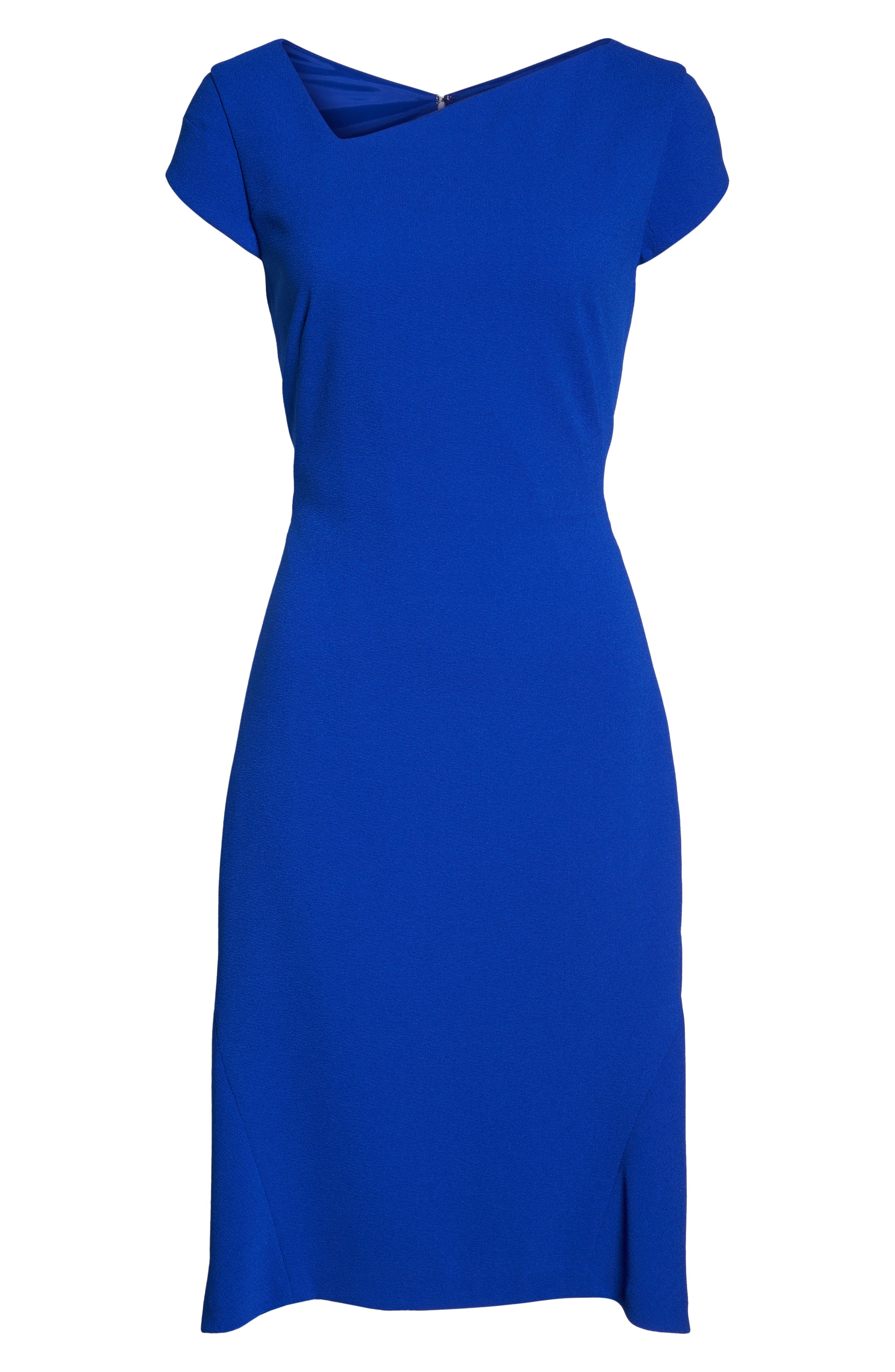 Alternate Image 6  - Maggy London Asymmetrical Neck Fit & Flare Dress