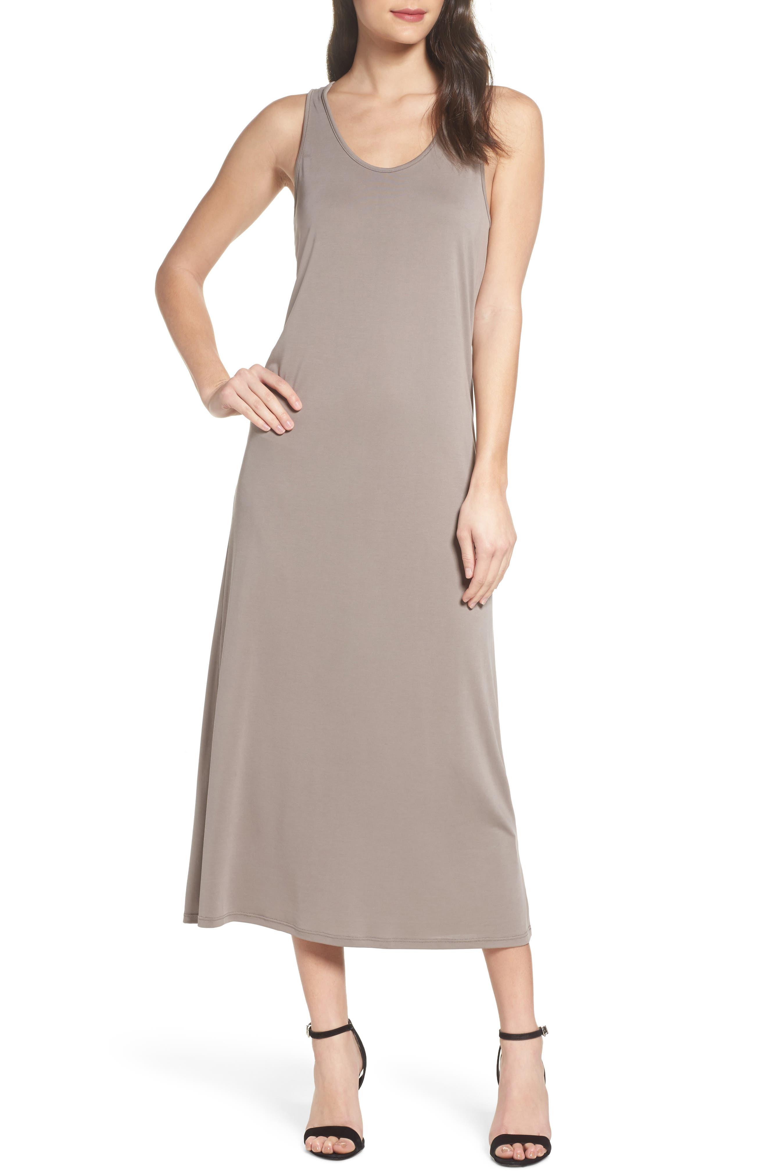 Knot Back Maxi Dress,                         Main,                         color, Mocha