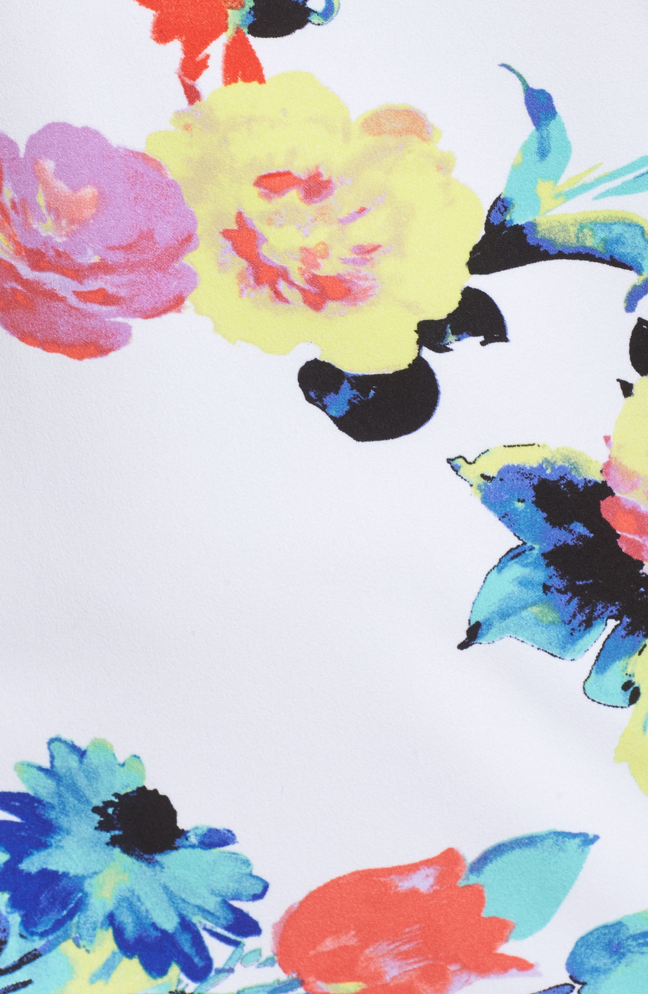 Alternate Image 5  - Tahari Floral Print Shift Dress (Plus Size)