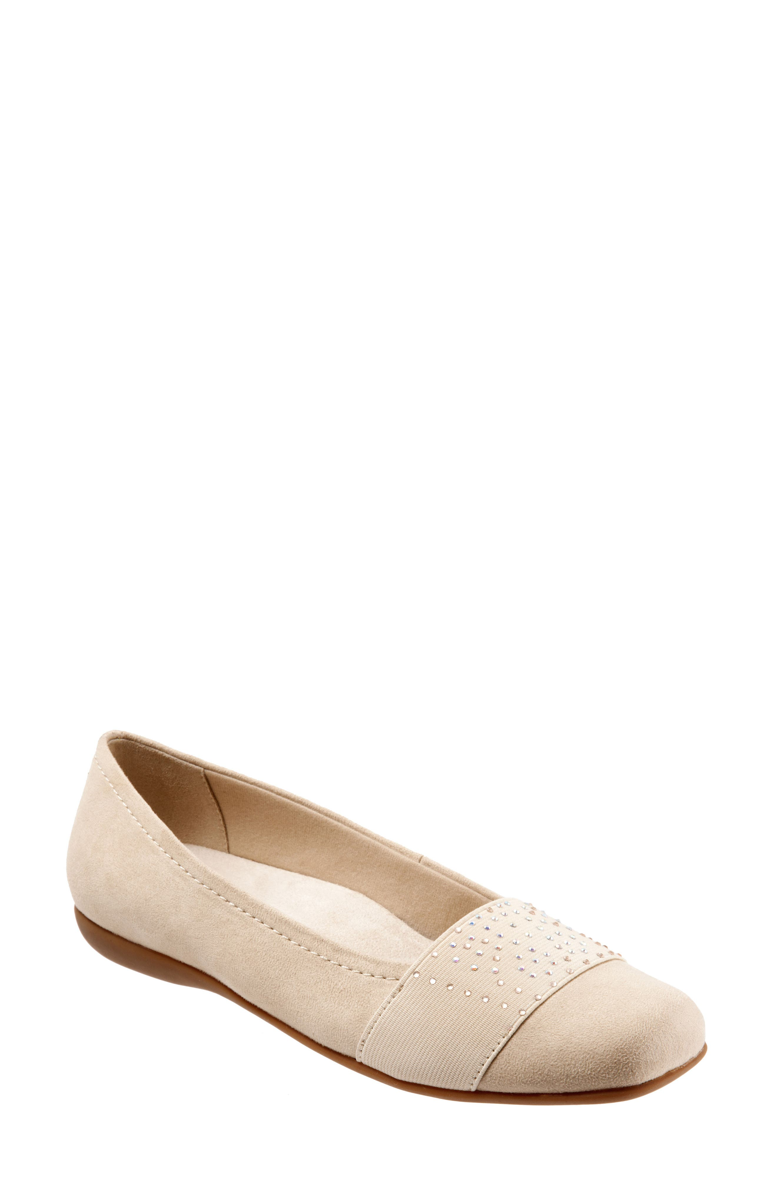 Samantha Flat,                         Main,                         color, Nude Suede