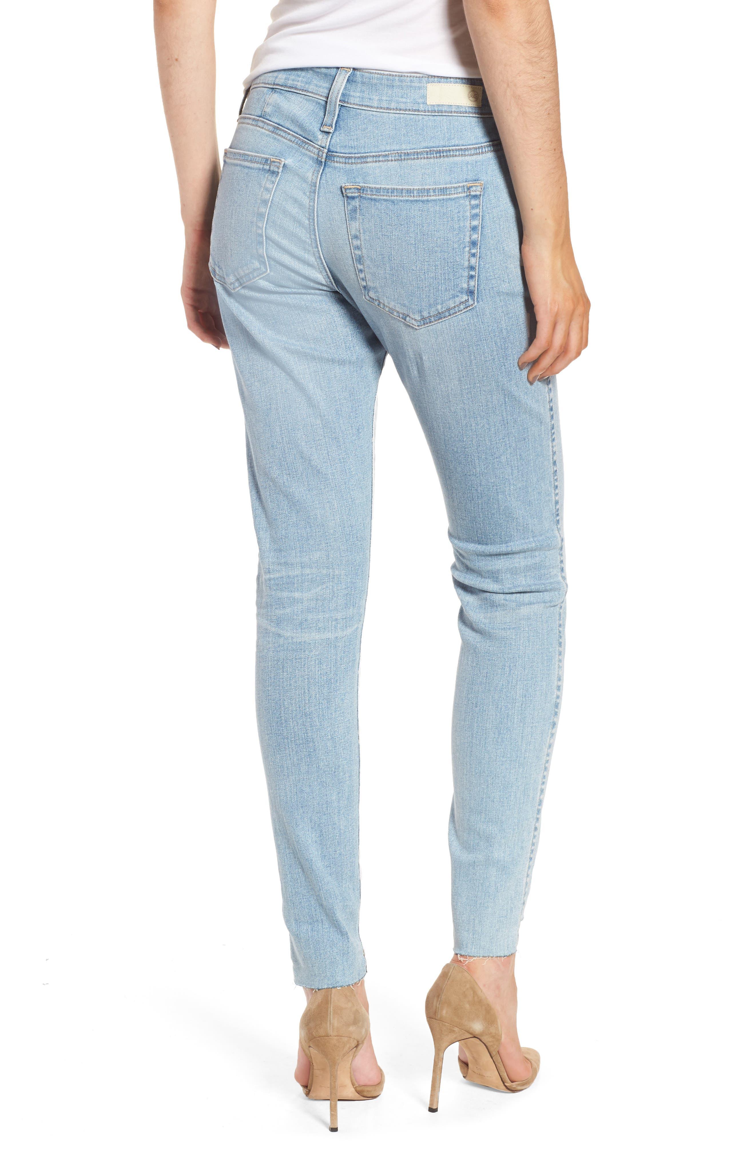 Alternate Image 2  - AG The Farrah High Waist Ankle Skinny Jeans (20 Years Oceana)