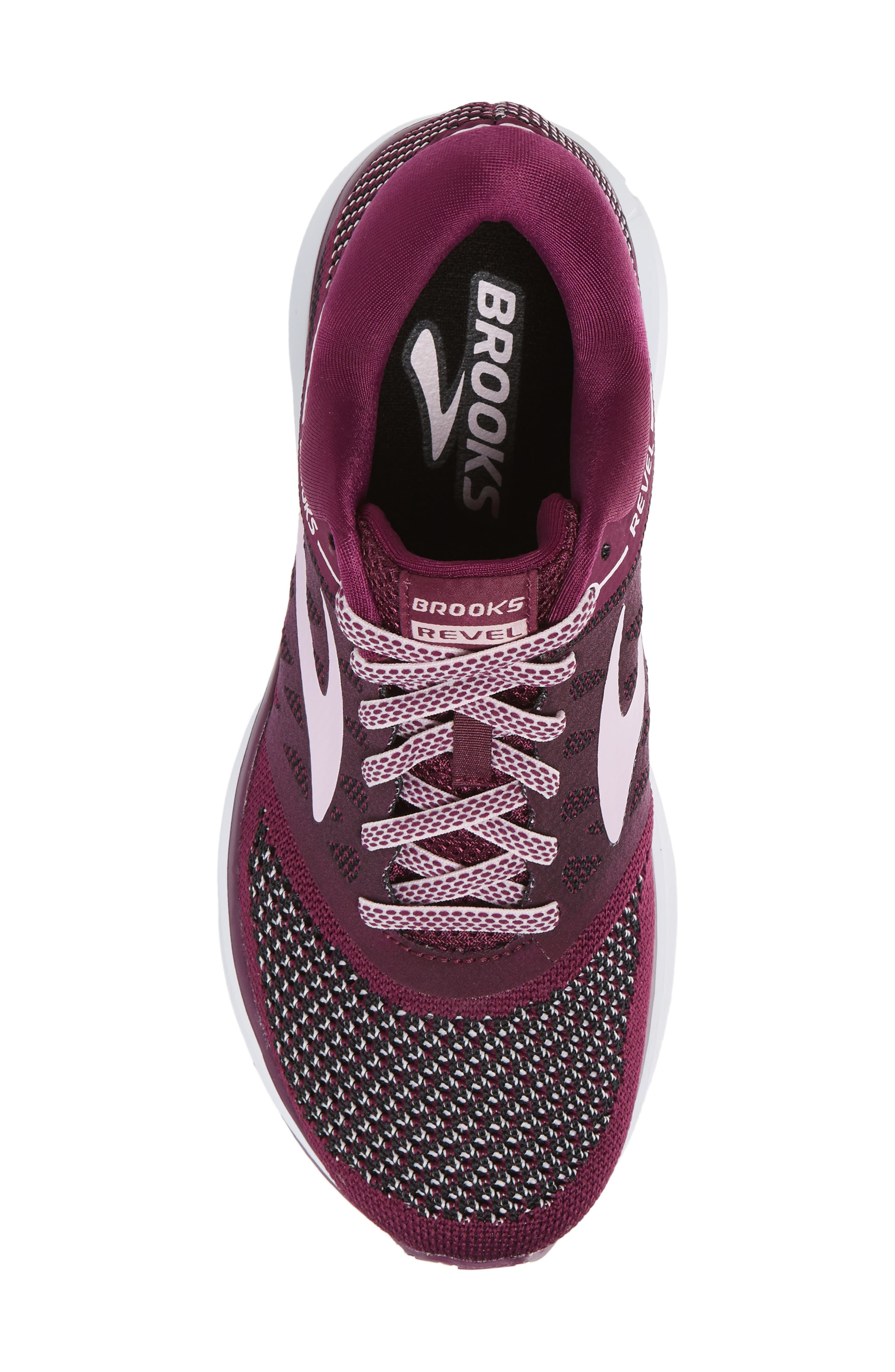 Revel Running Shoe,                             Alternate thumbnail 5, color,                             Plum/ Pink/ Black