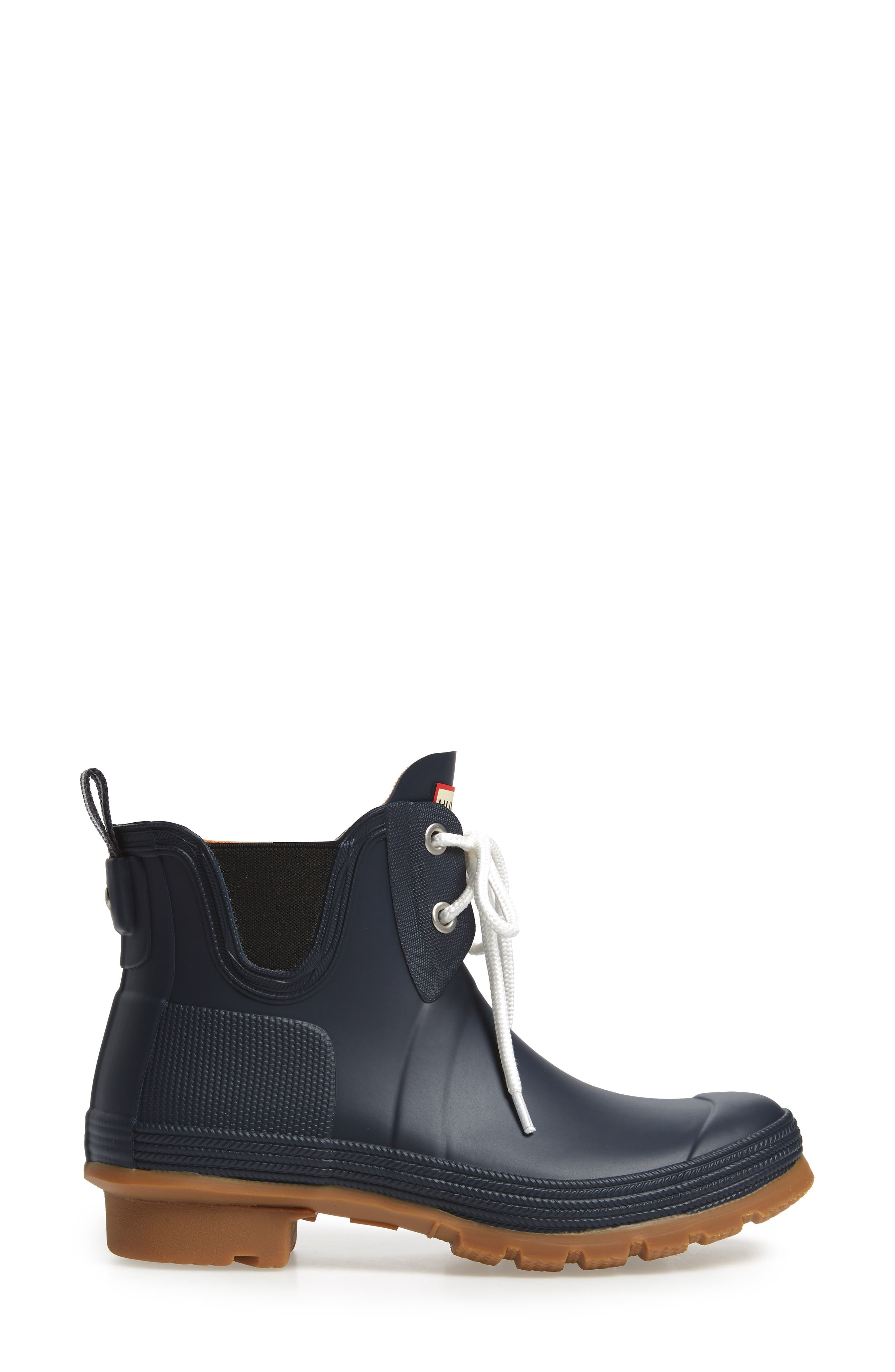 Original Sissinghurst Waterproof Pull-On Boot,                             Alternate thumbnail 3, color,                             Navy/ Gum