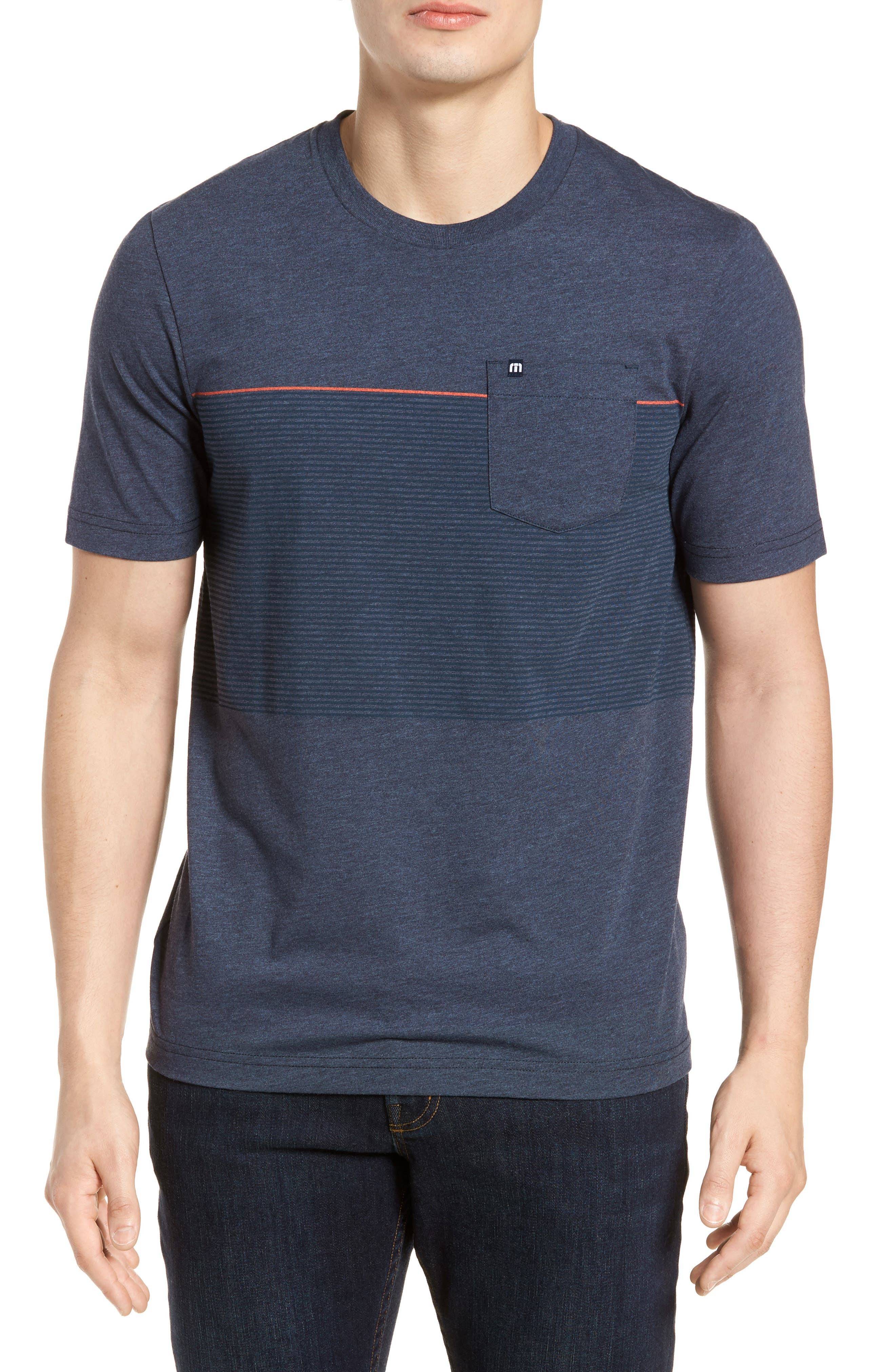 Main Image - Travis Mathew Jeramie Stripe Pocket T-Shirt