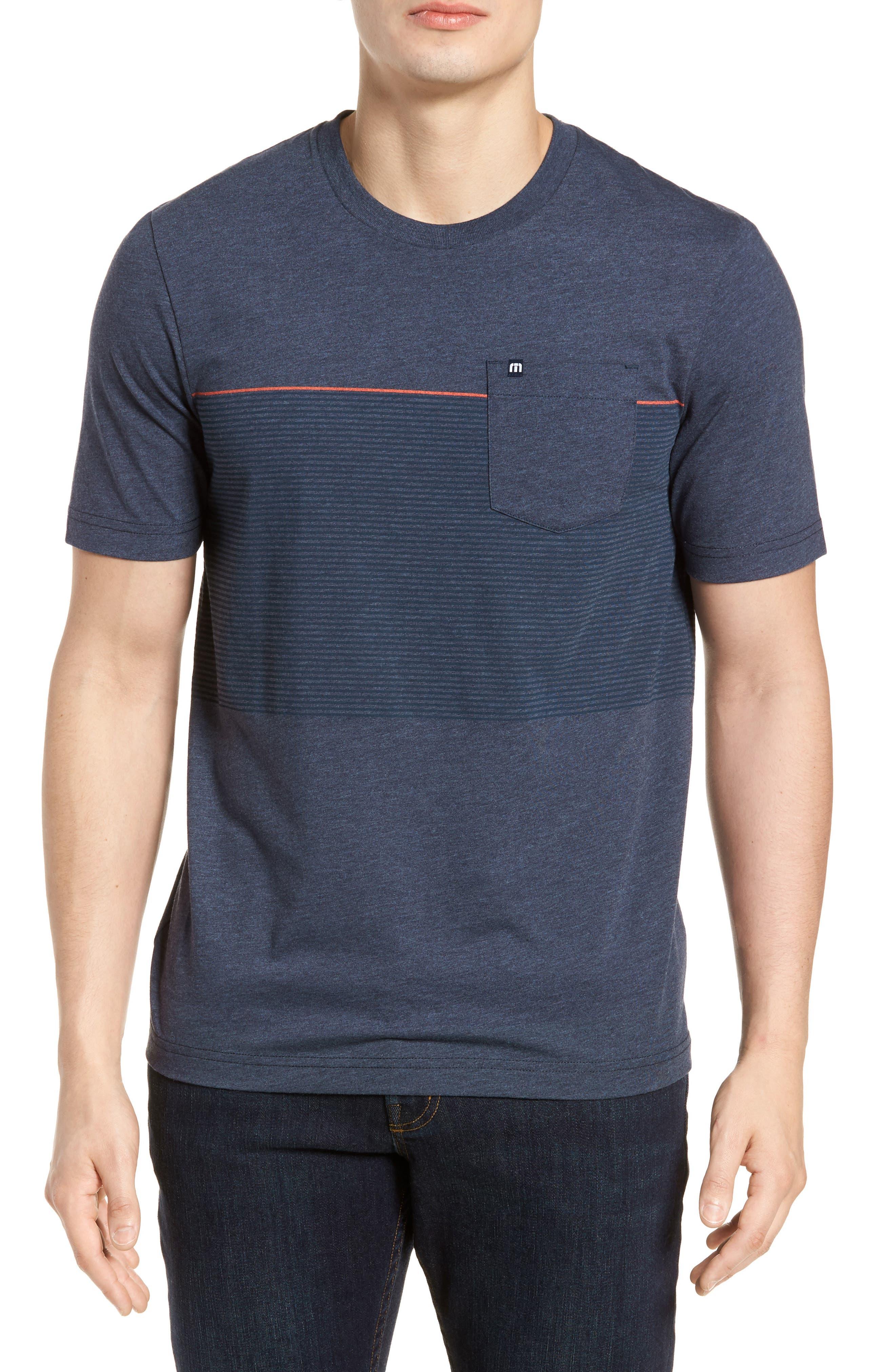 Jeramie Stripe Pocket T-Shirt,                         Main,                         color, Blue Nights/ Dusk Blue