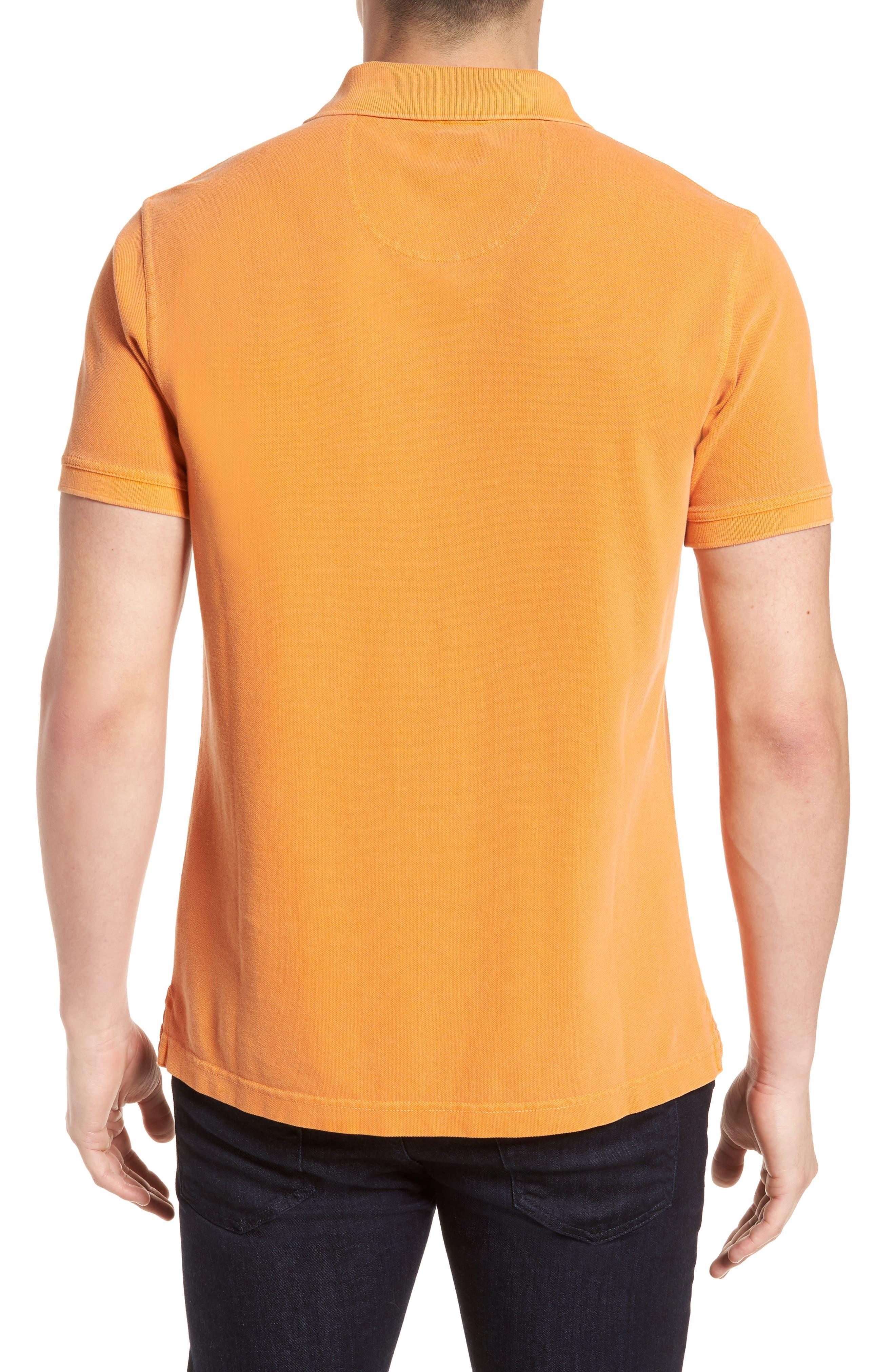 Washed Sports Polo Shirt,                             Alternate thumbnail 2, color,                             Acid Orange