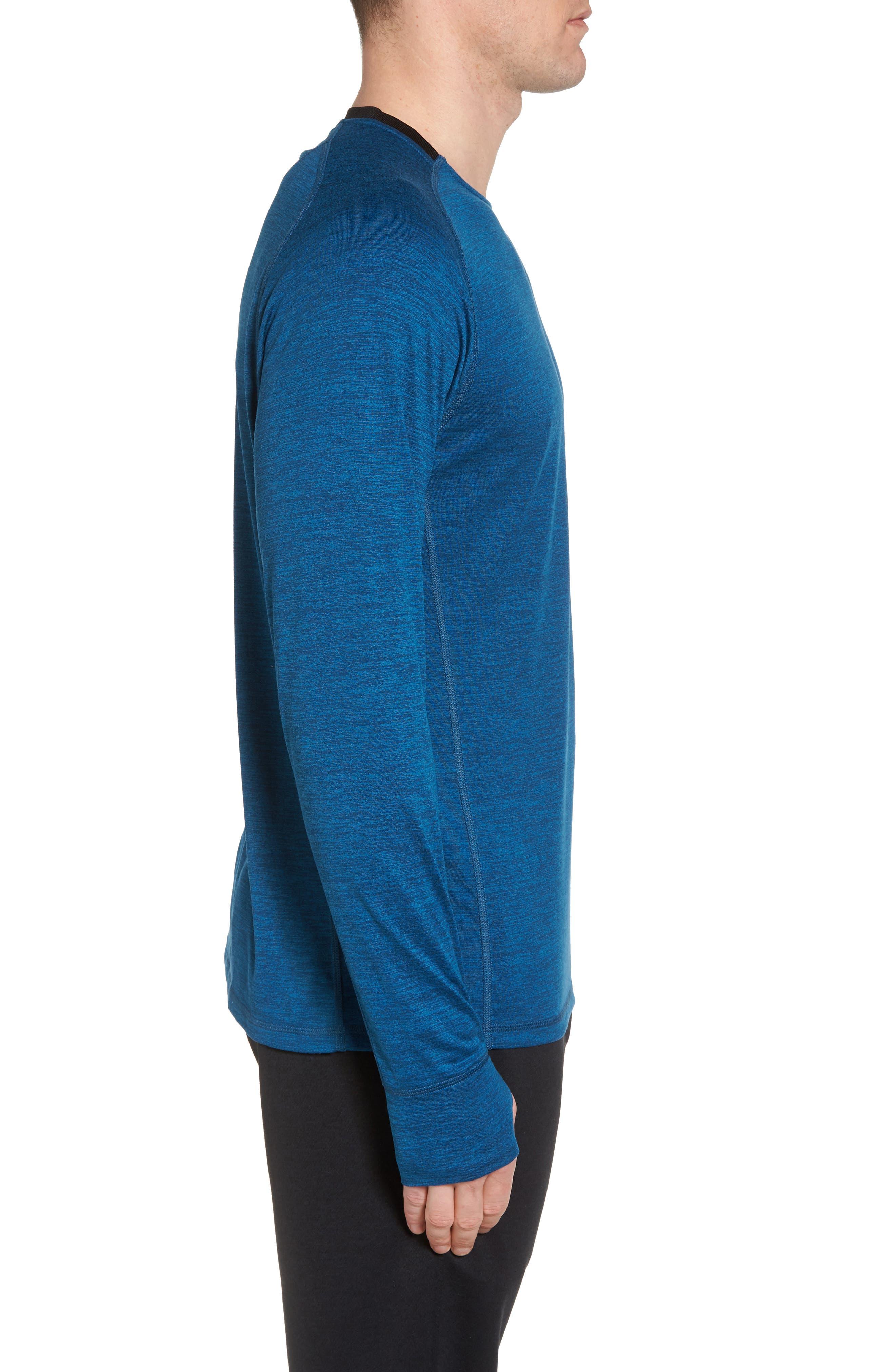 Larosite Athletic Fit T-Shirt,                             Alternate thumbnail 3, color,                             Blue Iolite Melange