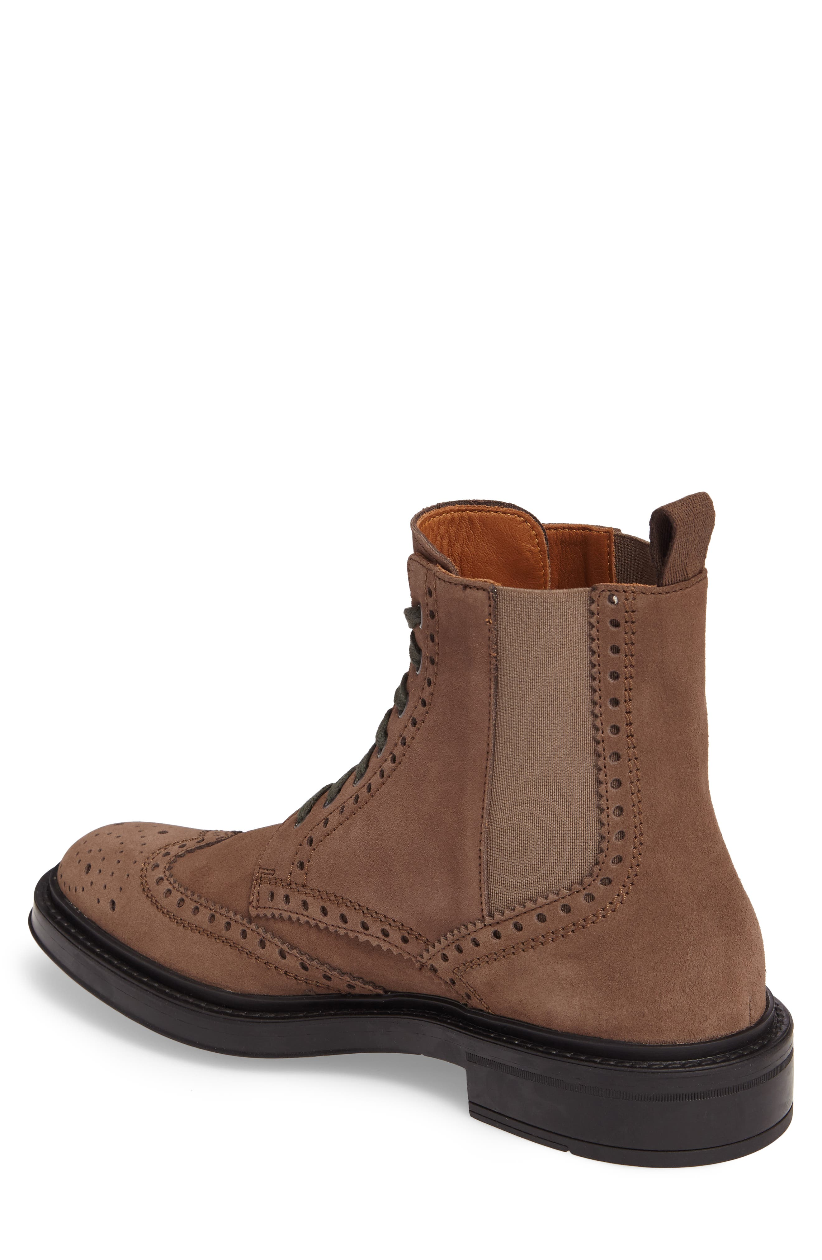 Lawrence Wingtip Boot,                             Alternate thumbnail 2, color,                             Dark Taupe