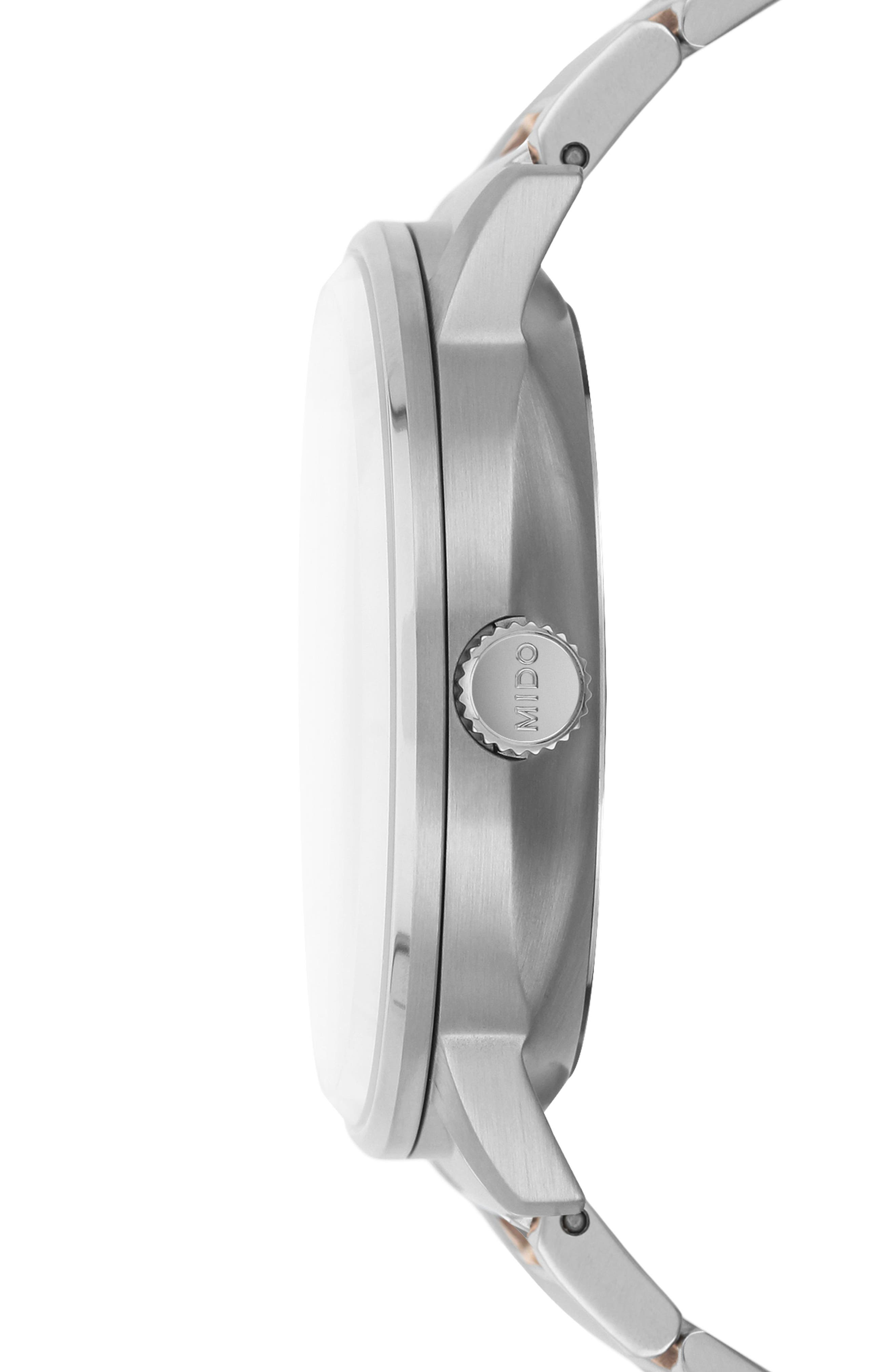 Alternate Image 3  - Mido Commander Chronometer Bracelet Watch, 40mm