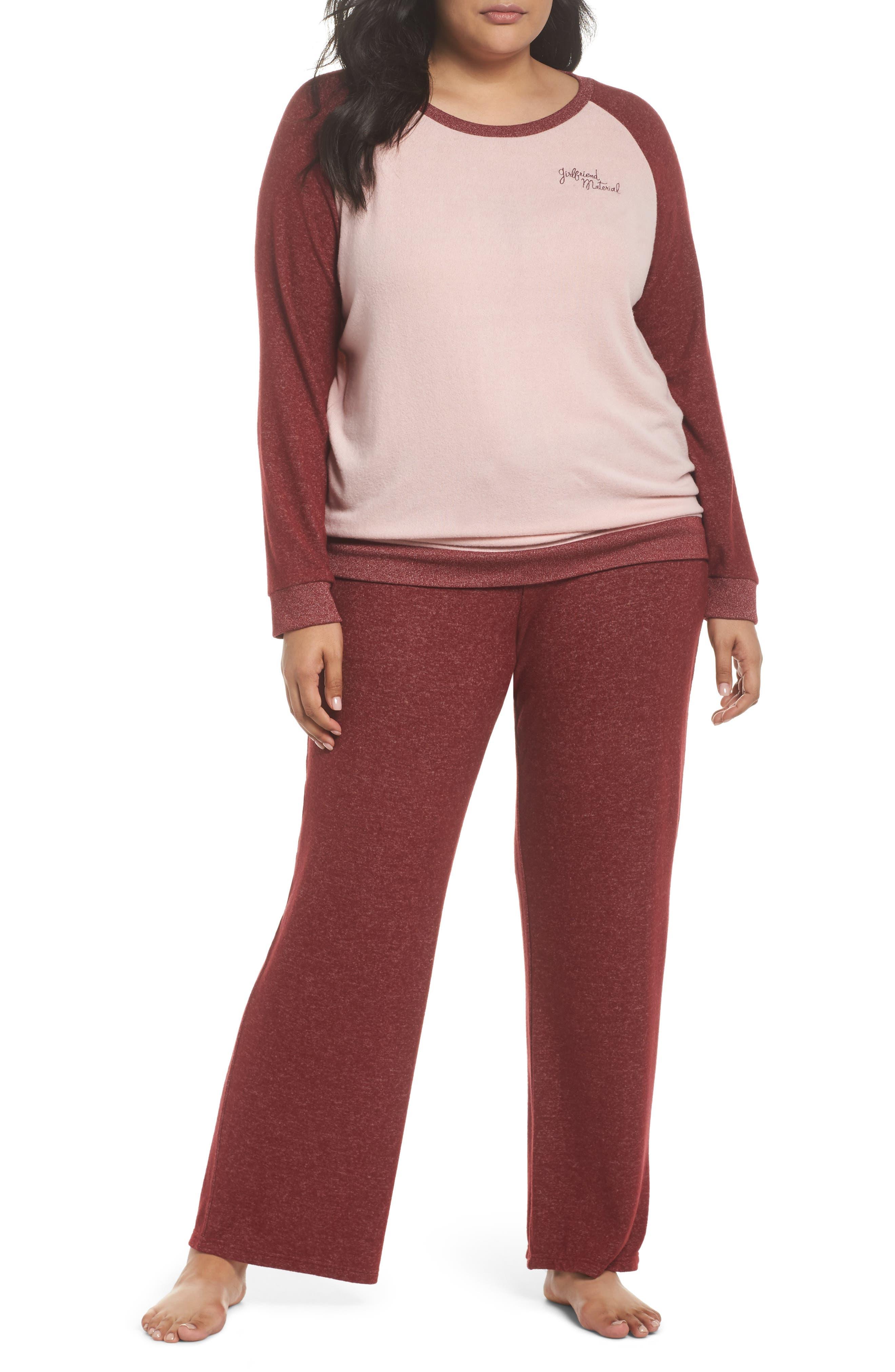 Alternate Image 5  - Make + Model Cozy Crew Lounge Sweater (Plus Size)