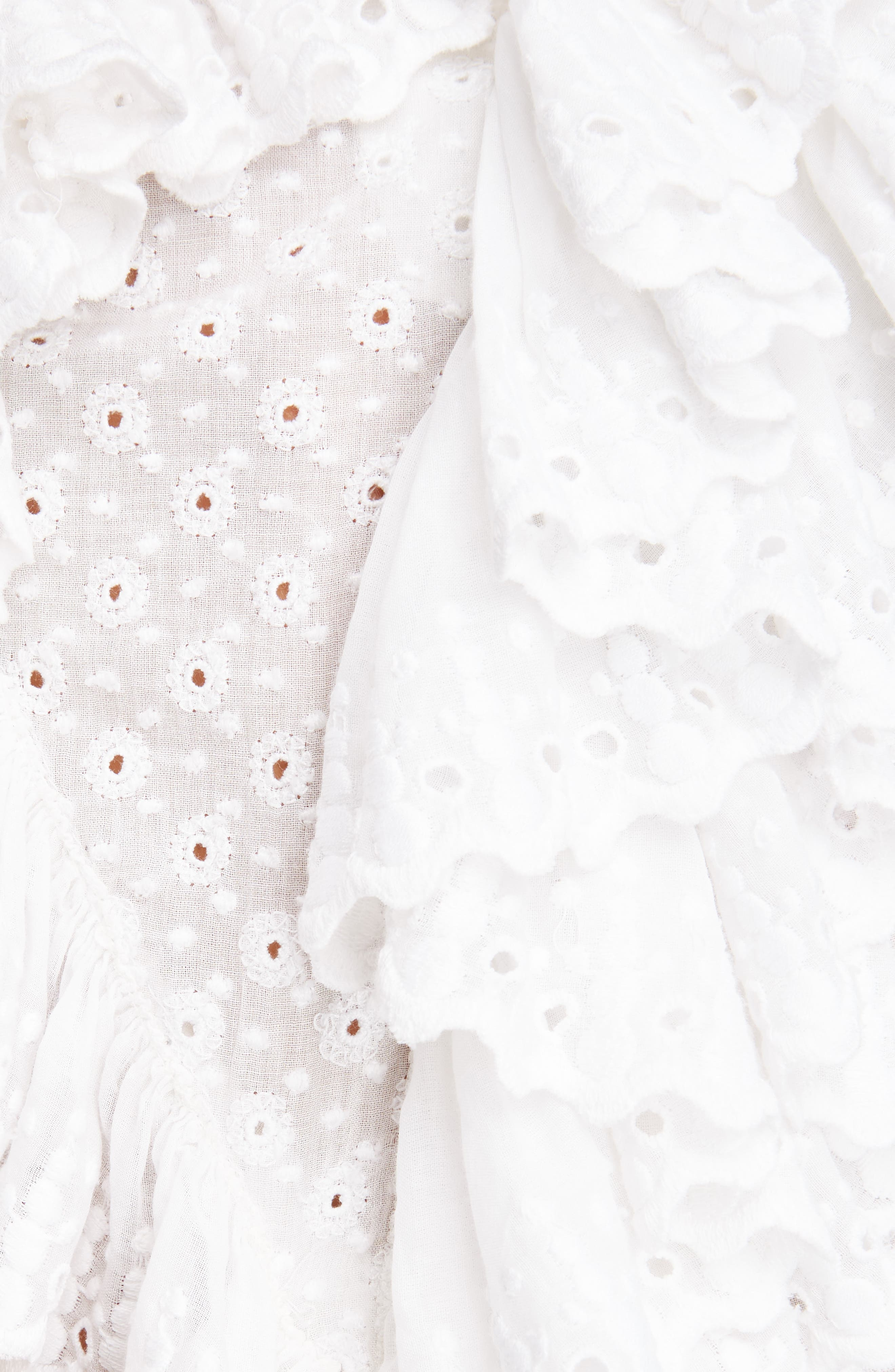 Alternate Image 5  - Isabel Marant Ruffle Detail Broderie Anglaise Top