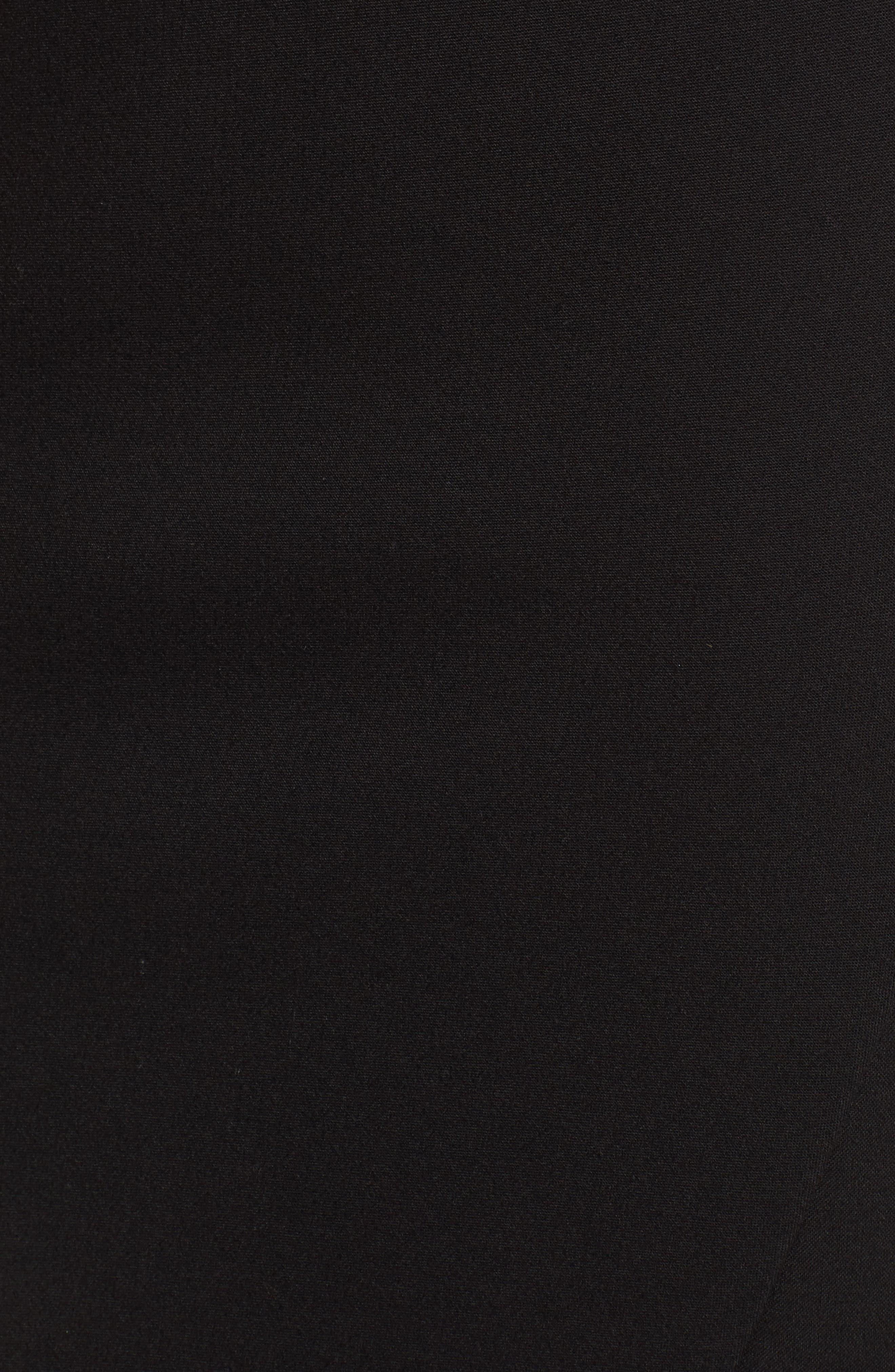 Asymmetrical Pencil Skirt,                             Alternate thumbnail 5, color,                             Black