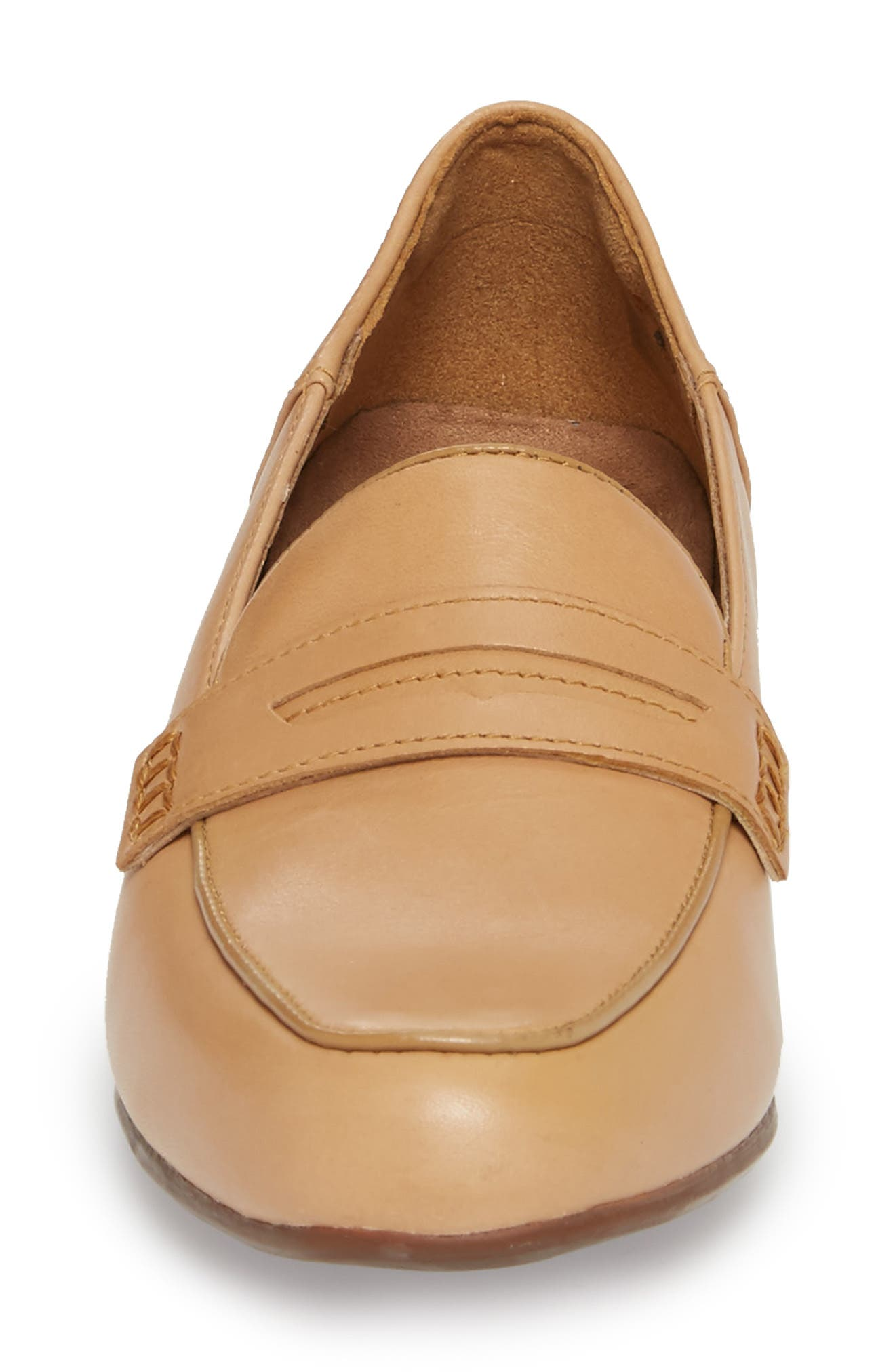 Keesha Cora Penny Loafer,                             Alternate thumbnail 4, color,                             Light Tan Leather