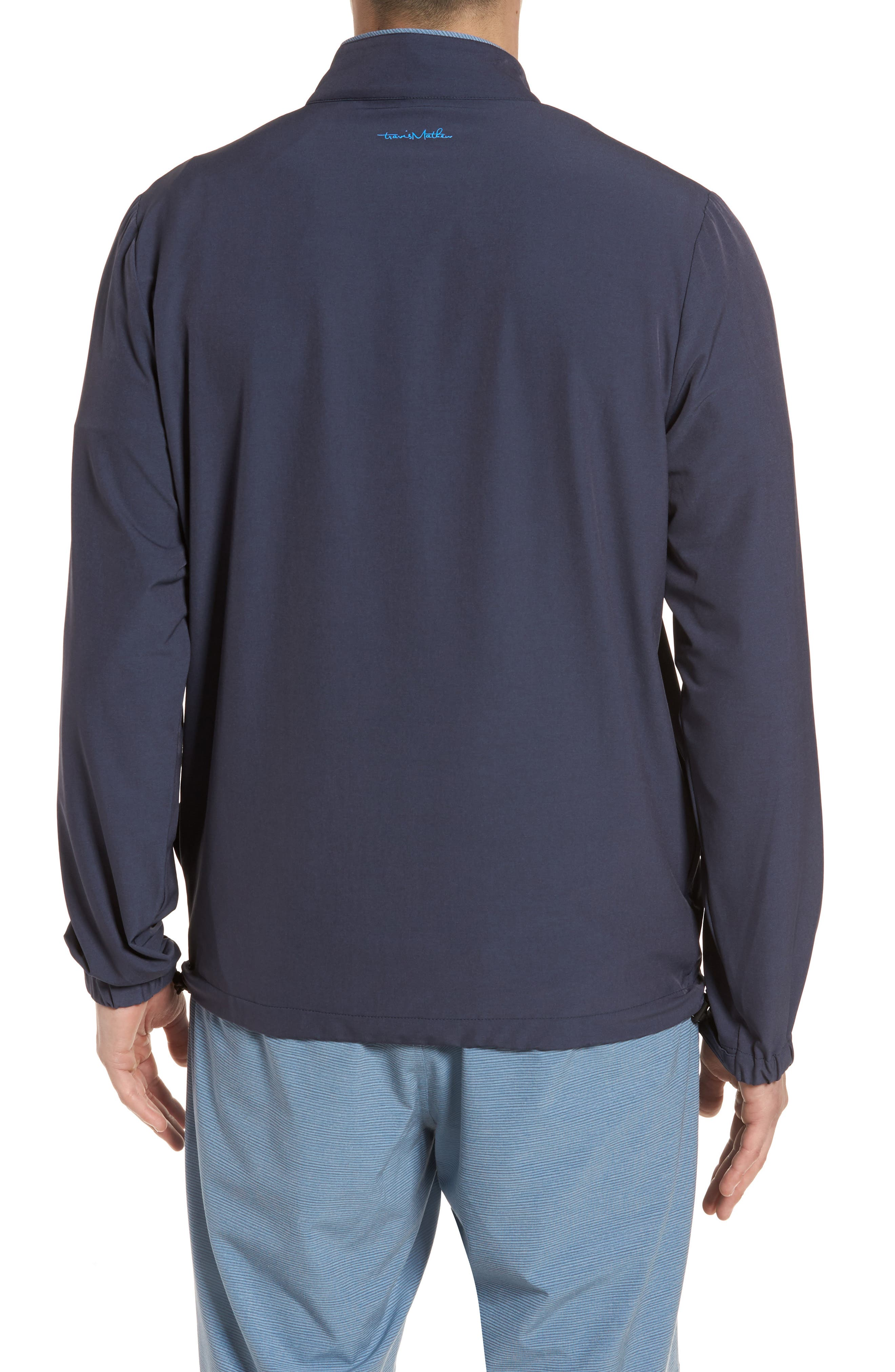 Leon Half Zip Pullover,                             Alternate thumbnail 2, color,                             Blue Nights/ French Blue