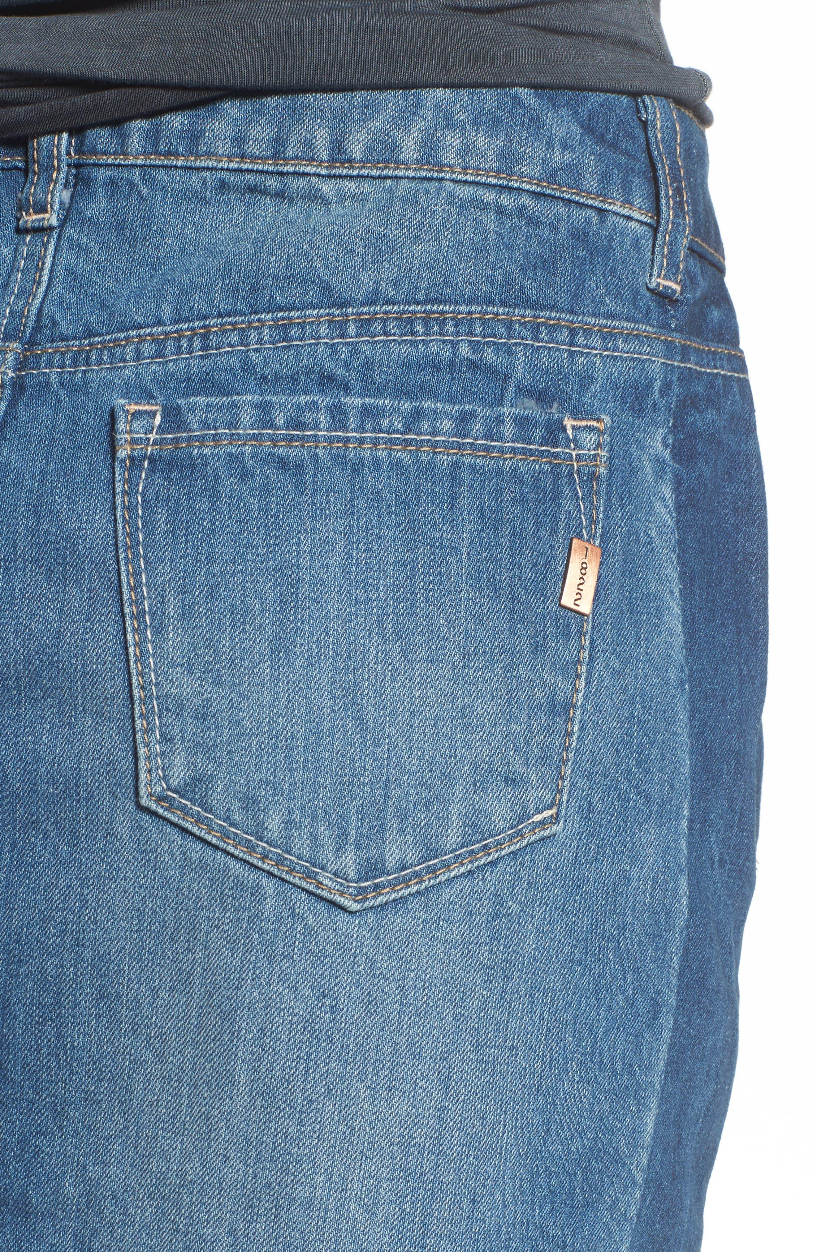Two Tone Denim Skirt,                             Alternate thumbnail 4, color,                             Lexington