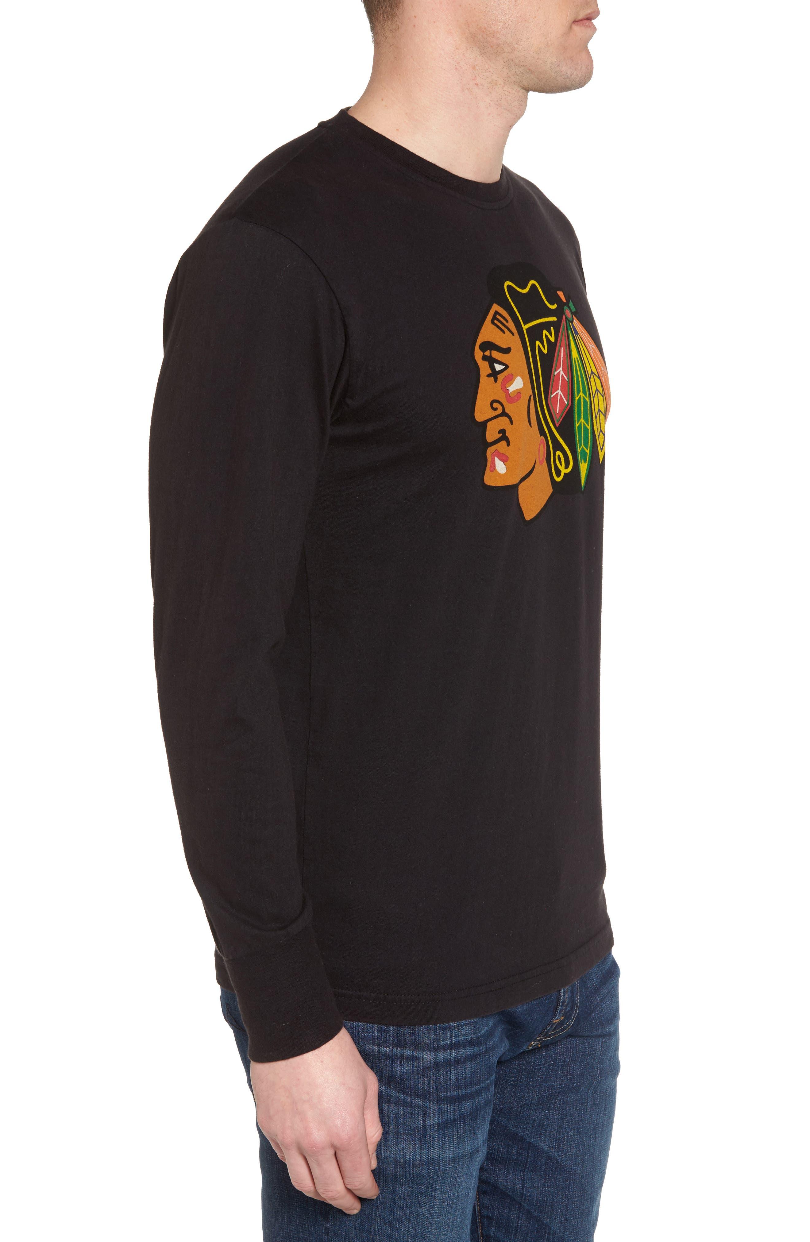 Gresham Chicago Blackhawks T-Shirt,                             Alternate thumbnail 3, color,                             Black