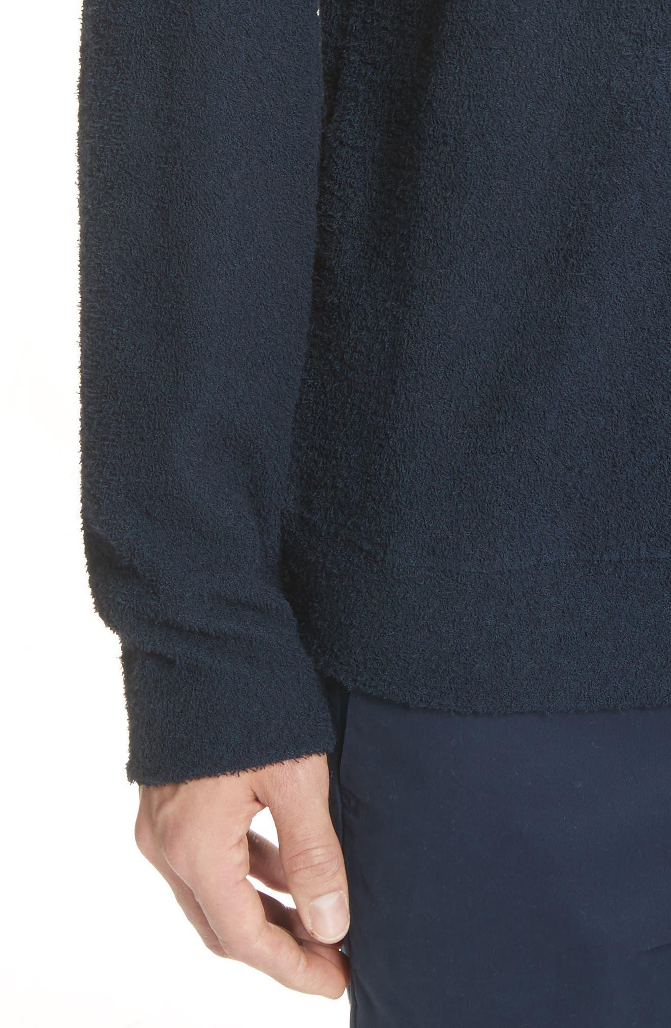 Rask Crewneck Sweatshirt,                             Alternate thumbnail 4, color,                             Dark Navy