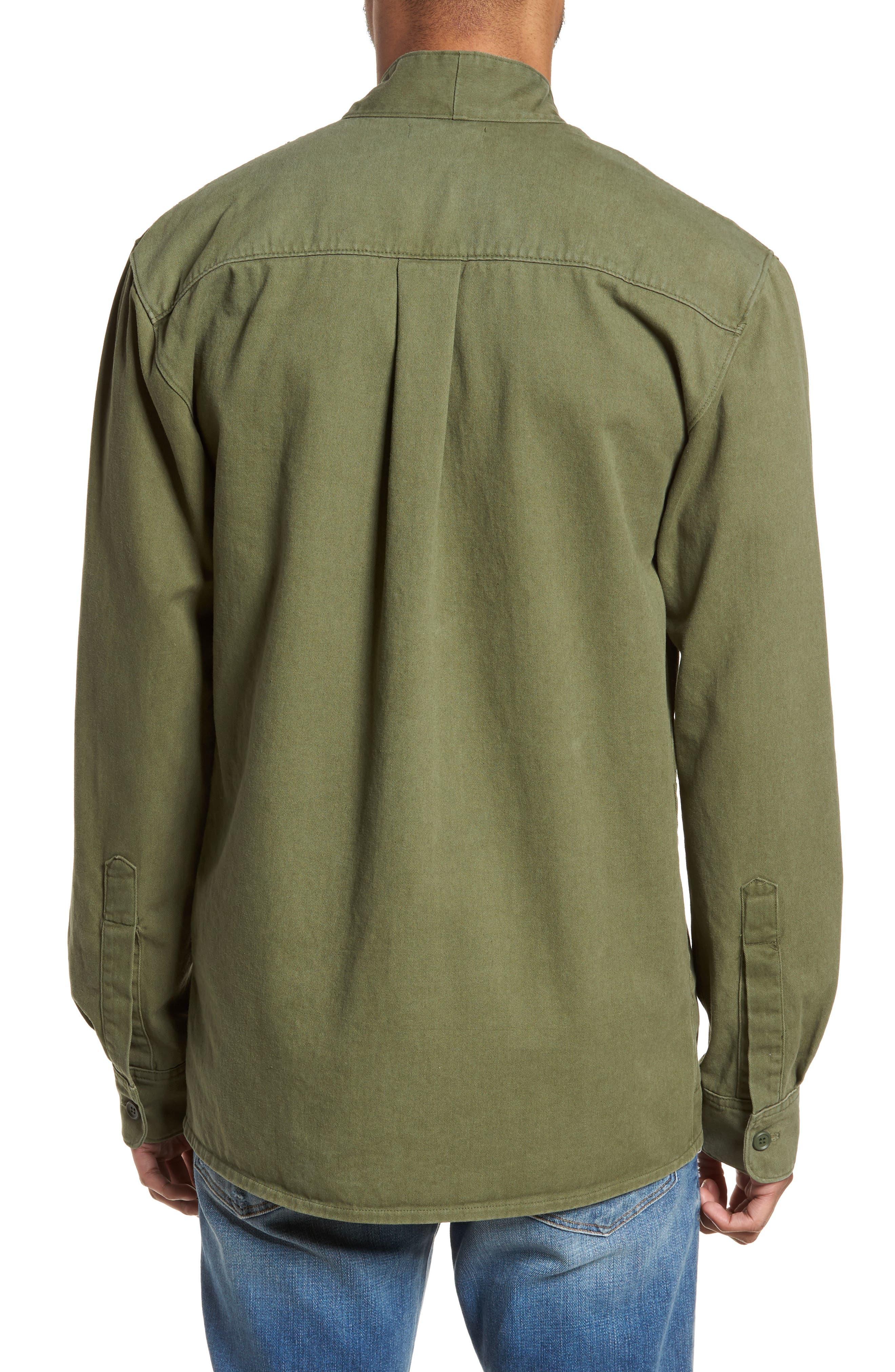 Woven Kimono Cardigan,                             Alternate thumbnail 2, color,                             Green Moss