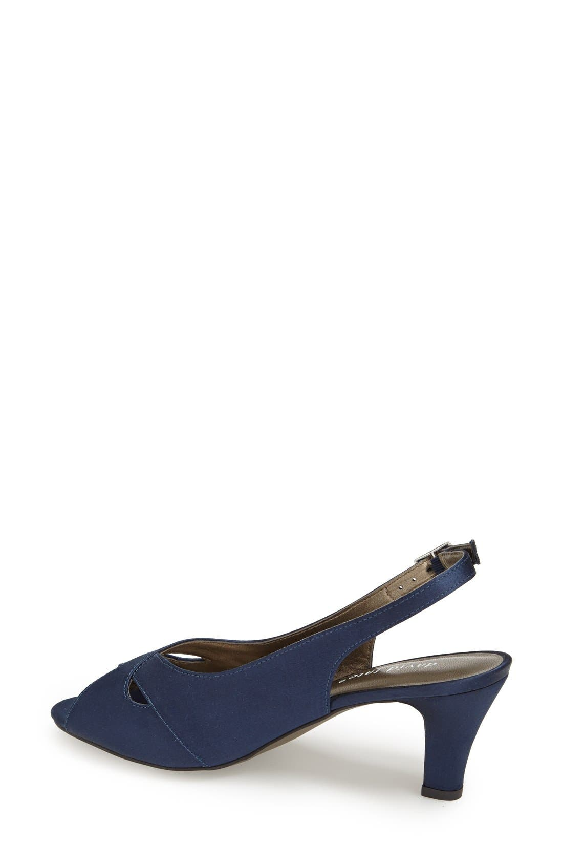 Alternate Image 3  - David Tate 'Palm' Slingback Satin Sandal (Women)