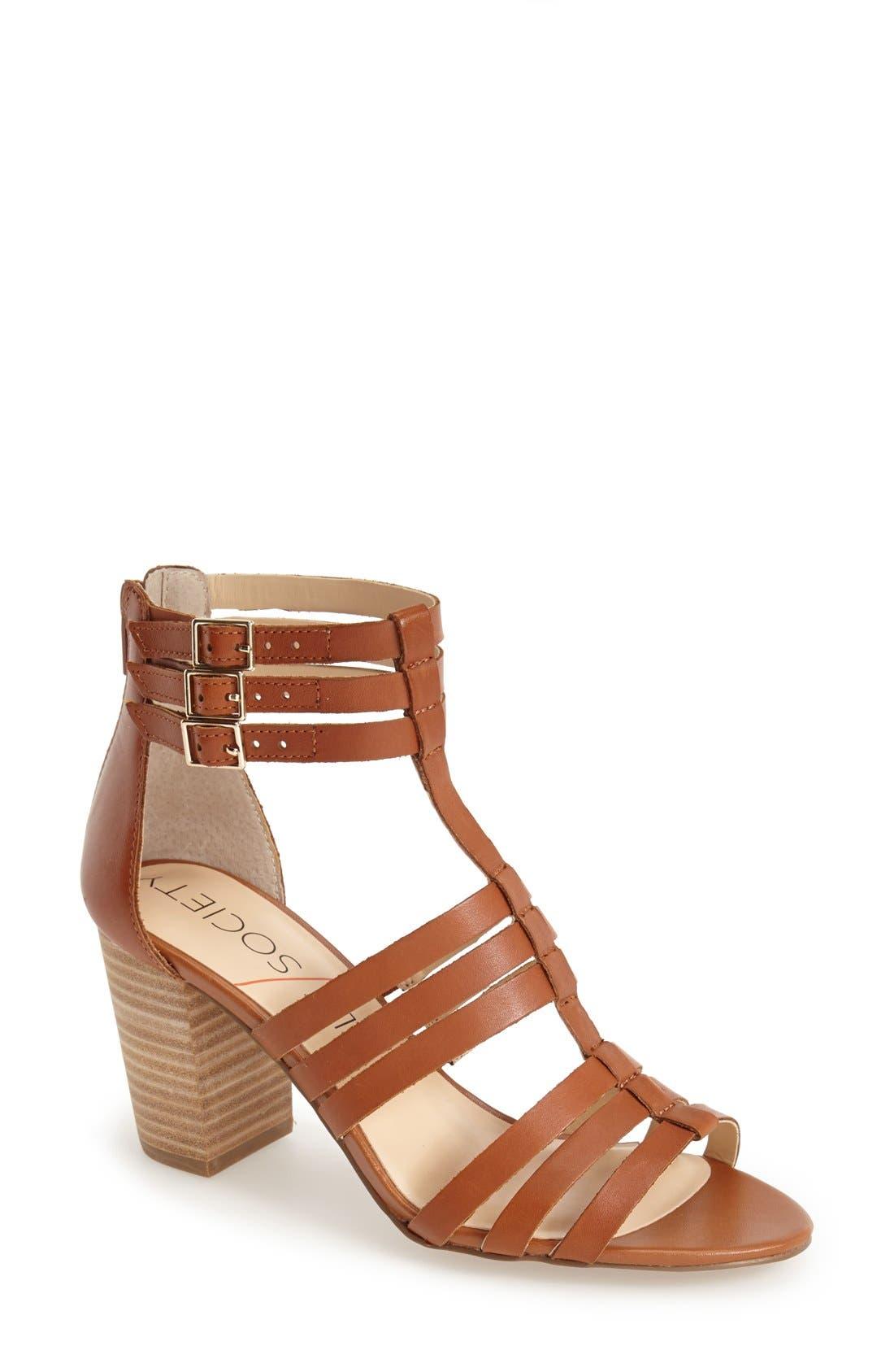 Alternate Image 1 Selected - Sole Society 'Elise' Gladiator Sandal (Women)