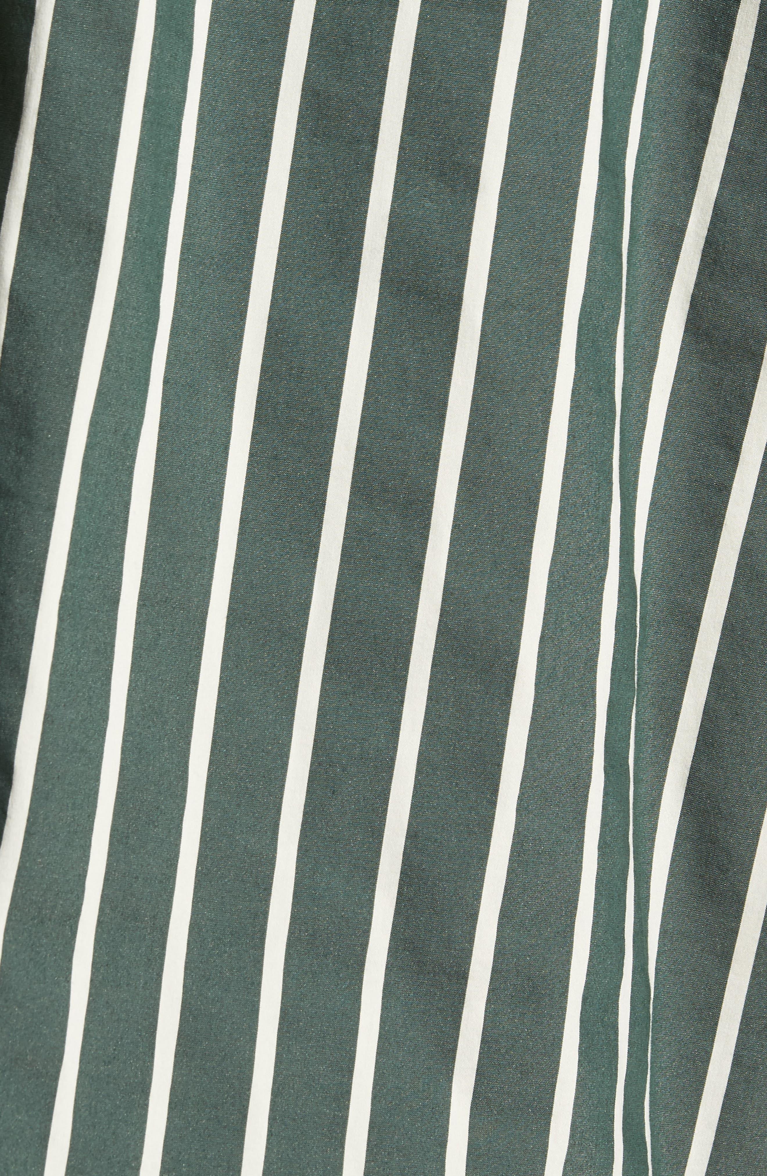 Column Stripe Sport Shirt,                             Alternate thumbnail 5, color,                             Deep Forest