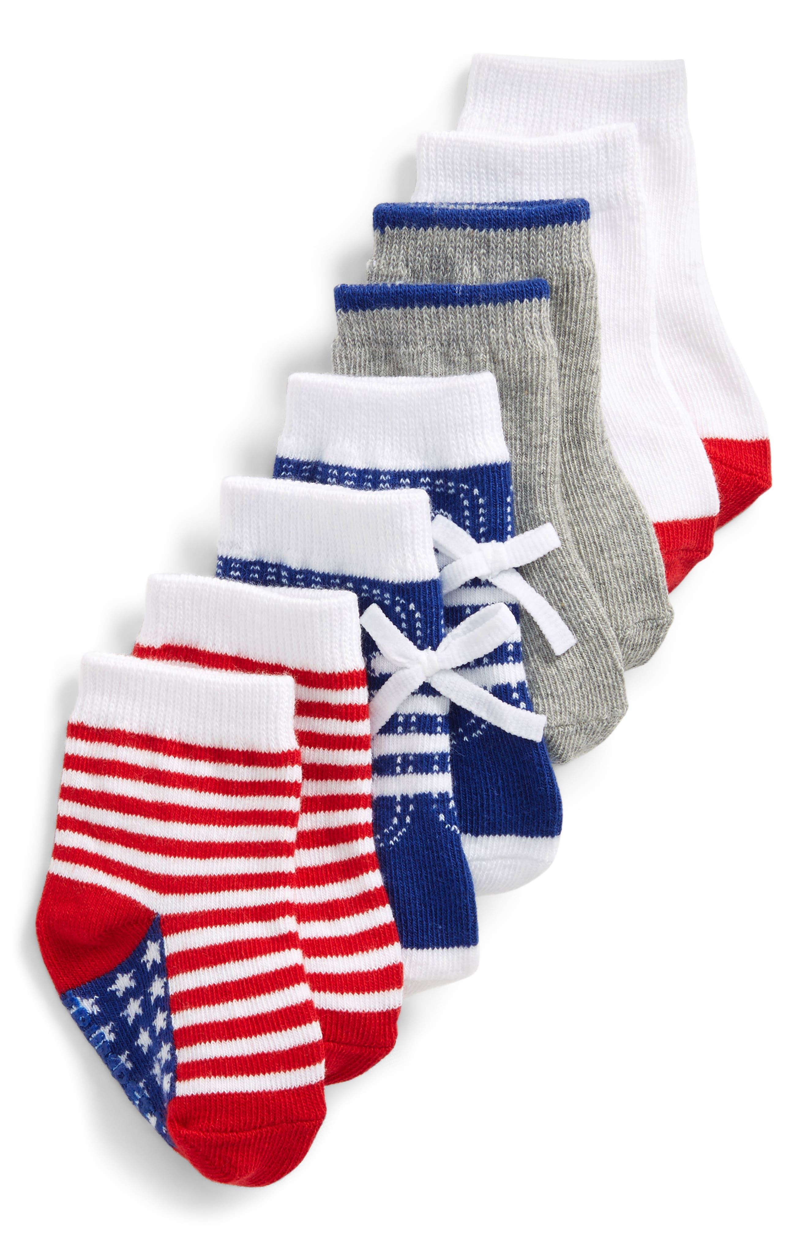 Alternate Image 2  - Trumpette Lincoln 4-Pack Socks (Baby Boys)