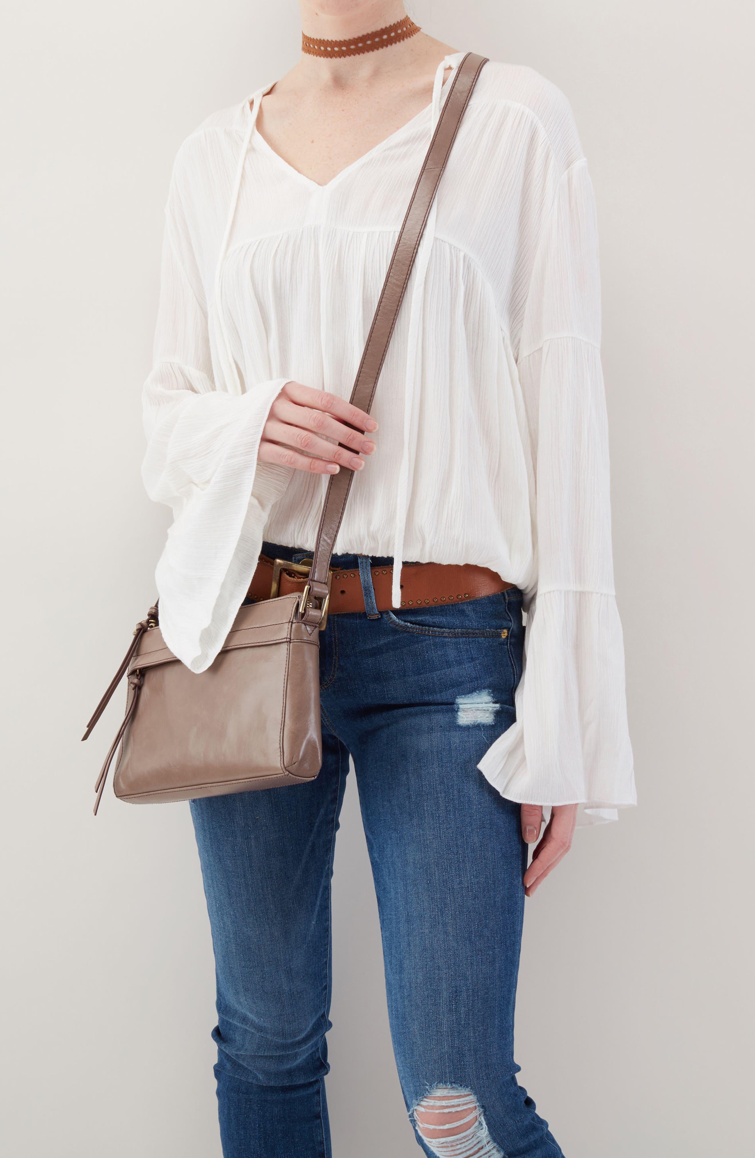 Tobey Leather Crossbody Bag,                             Alternate thumbnail 2, color,                             Ash