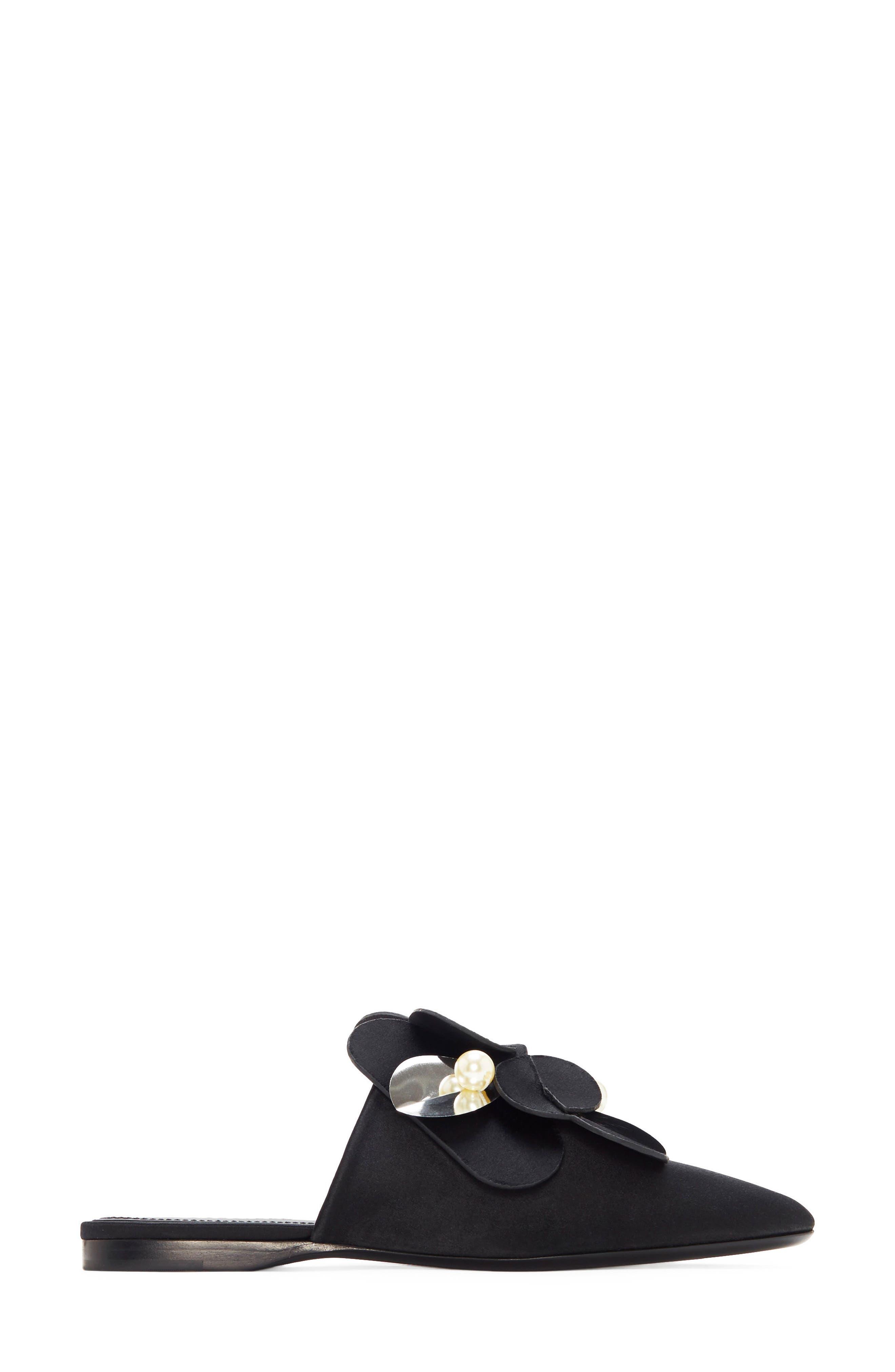 Corella Embellished Slide Sandal,                             Alternate thumbnail 2, color,                             Black