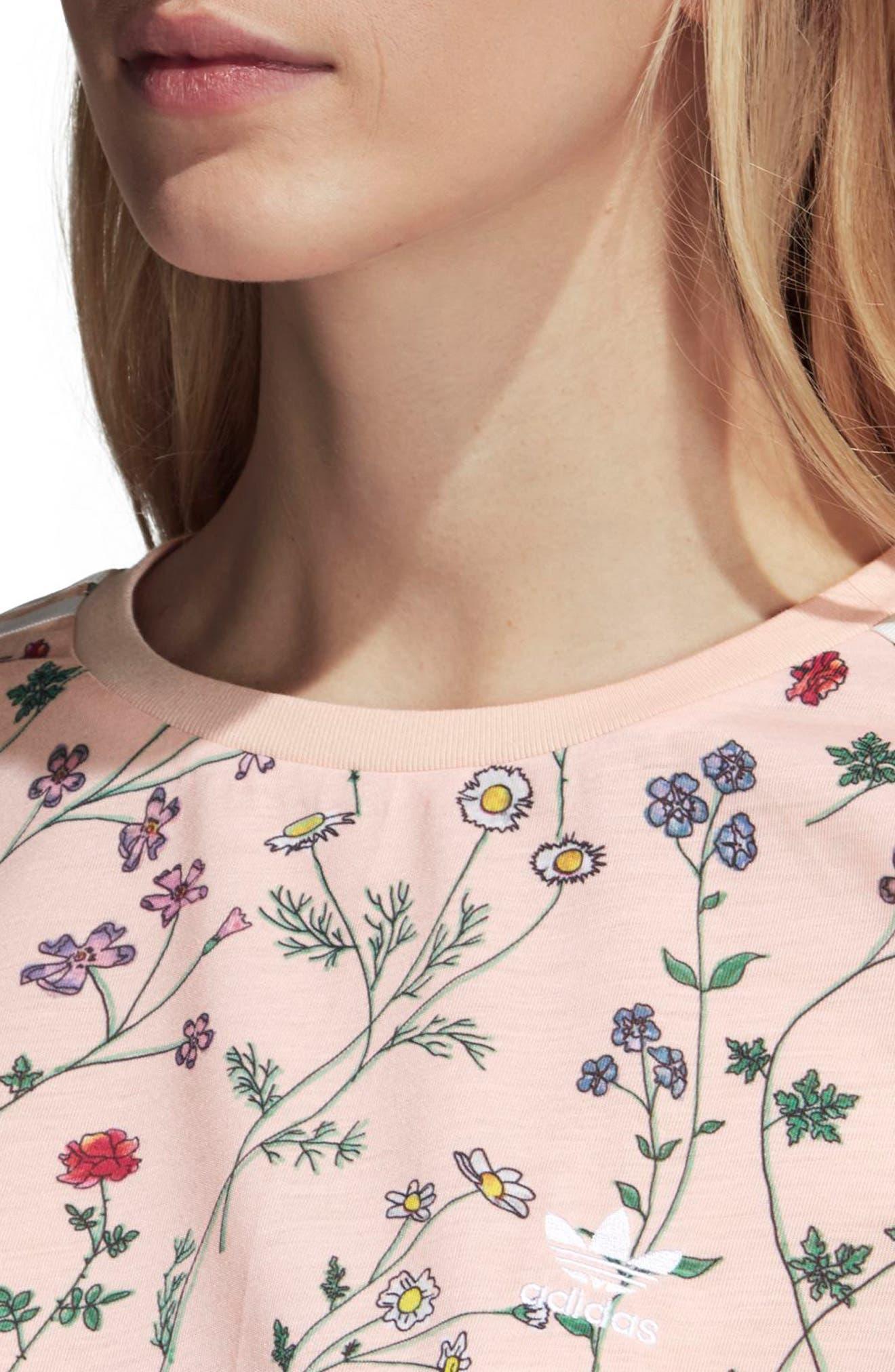 Originals Floral Graphic Tee,                             Alternate thumbnail 3, color,                             Pink - Flower Aop