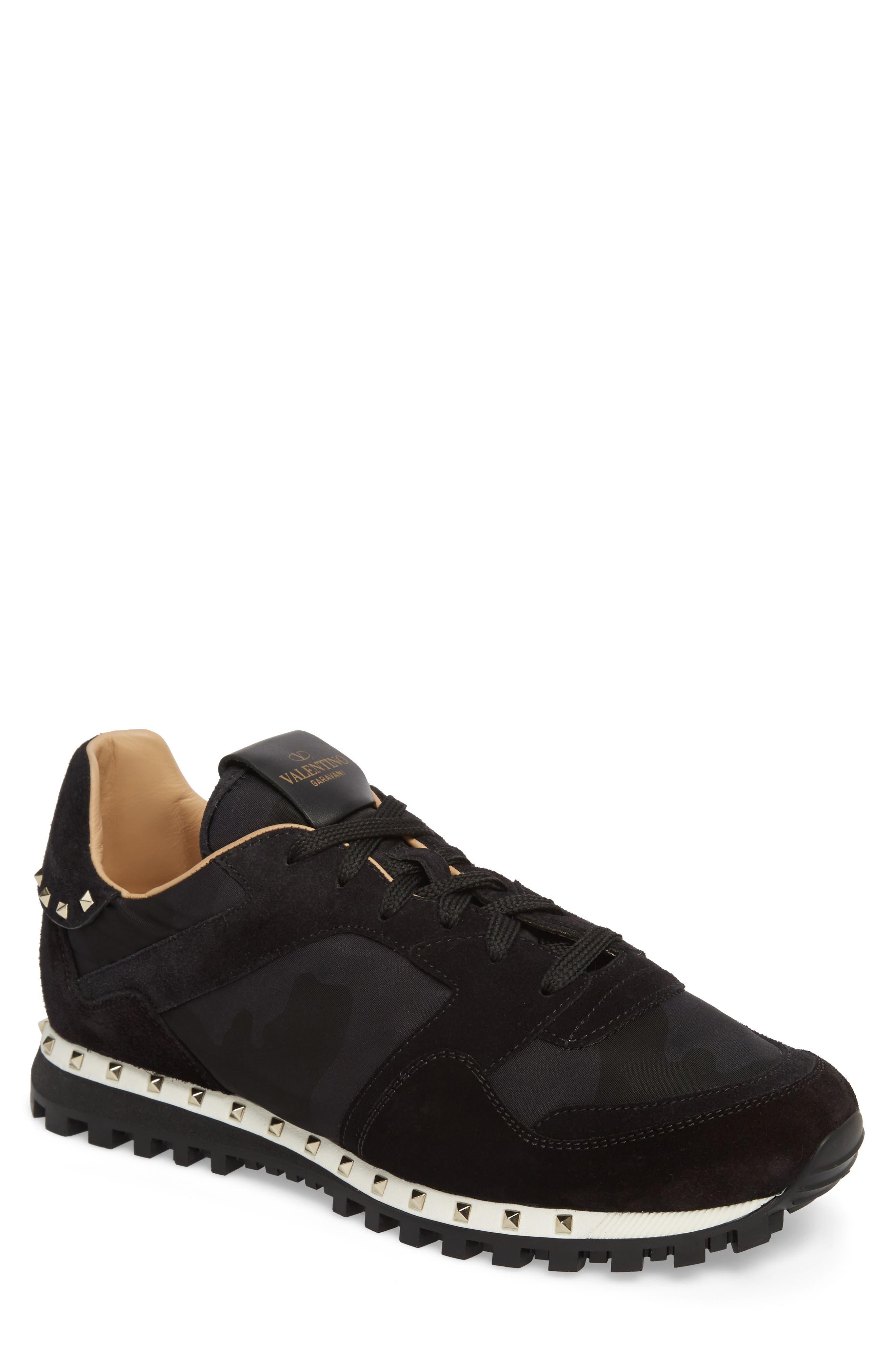 Main Image - VALENTINO GARAVANI Camo Rockstud Sneaker (Men)