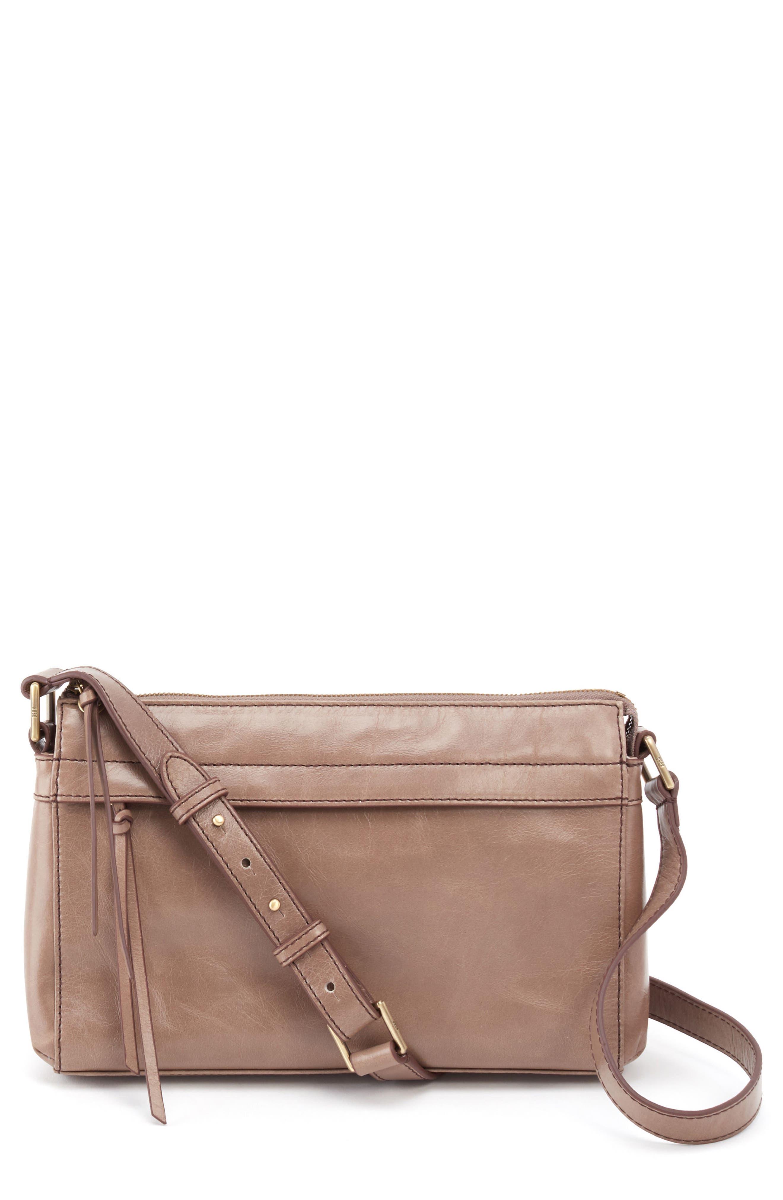 Tobey Leather Crossbody Bag,                             Main thumbnail 1, color,                             Ash