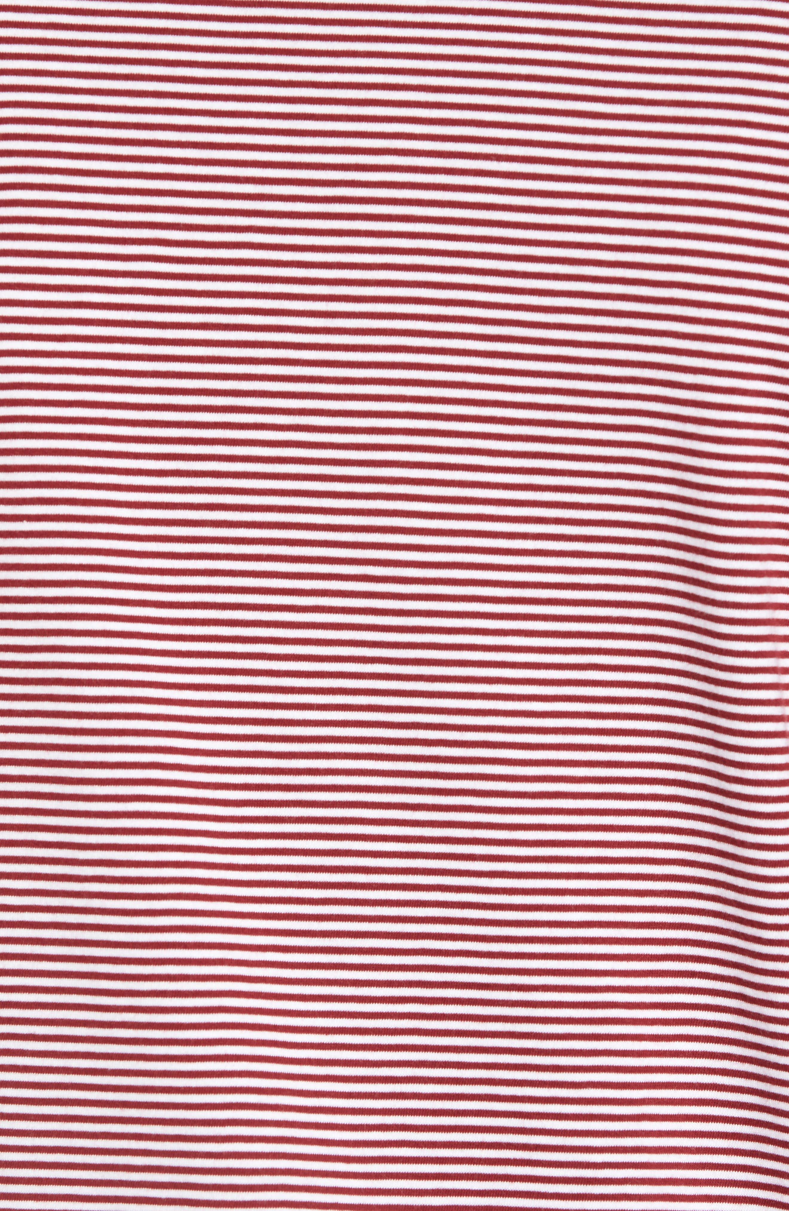 Whiptt Trim Fit Zip Polo,                             Alternate thumbnail 5, color,                             Dark Red