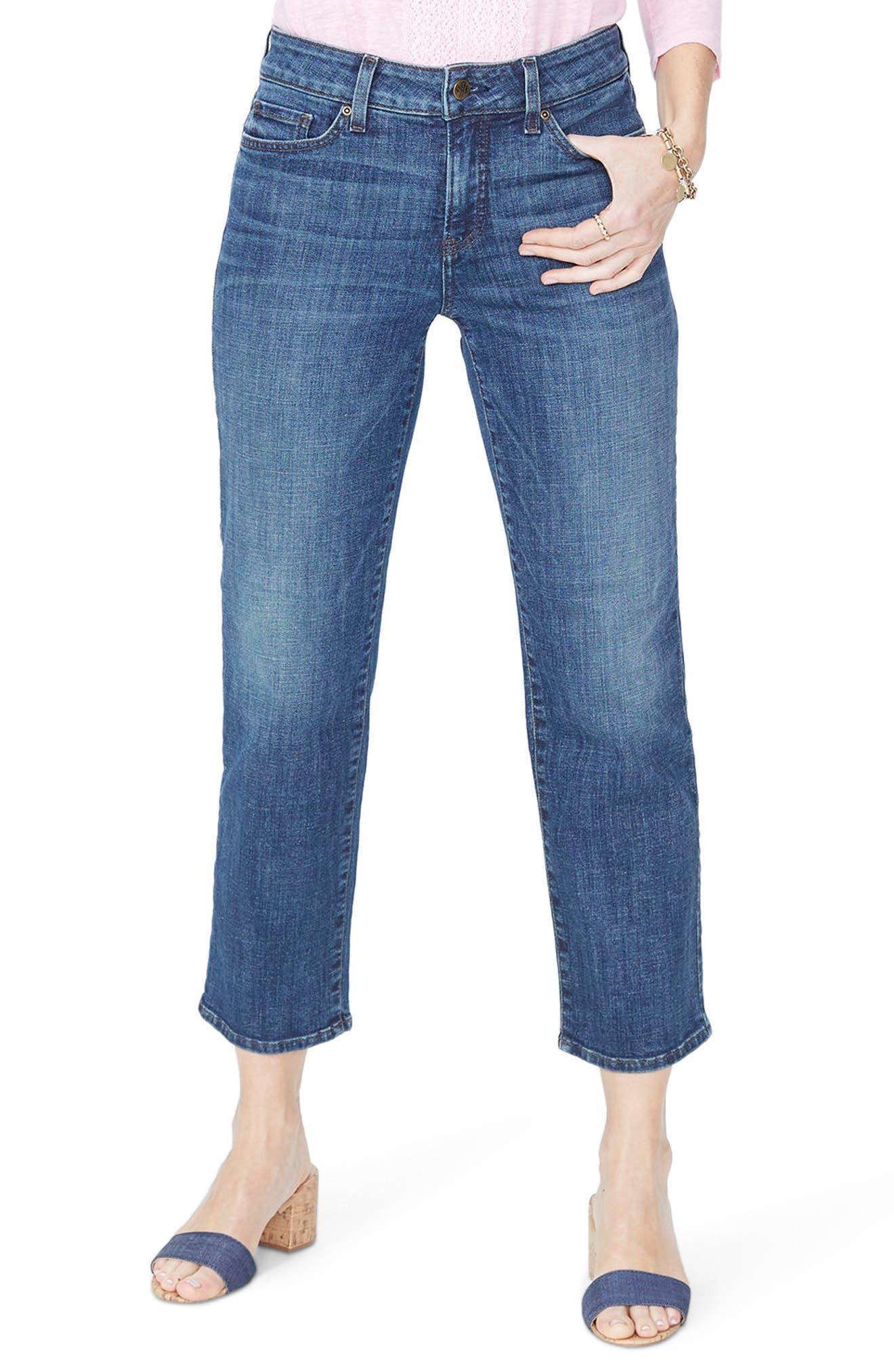 NYDJ Jenna Straight Leg Ankle Jeans (Desert Gold)