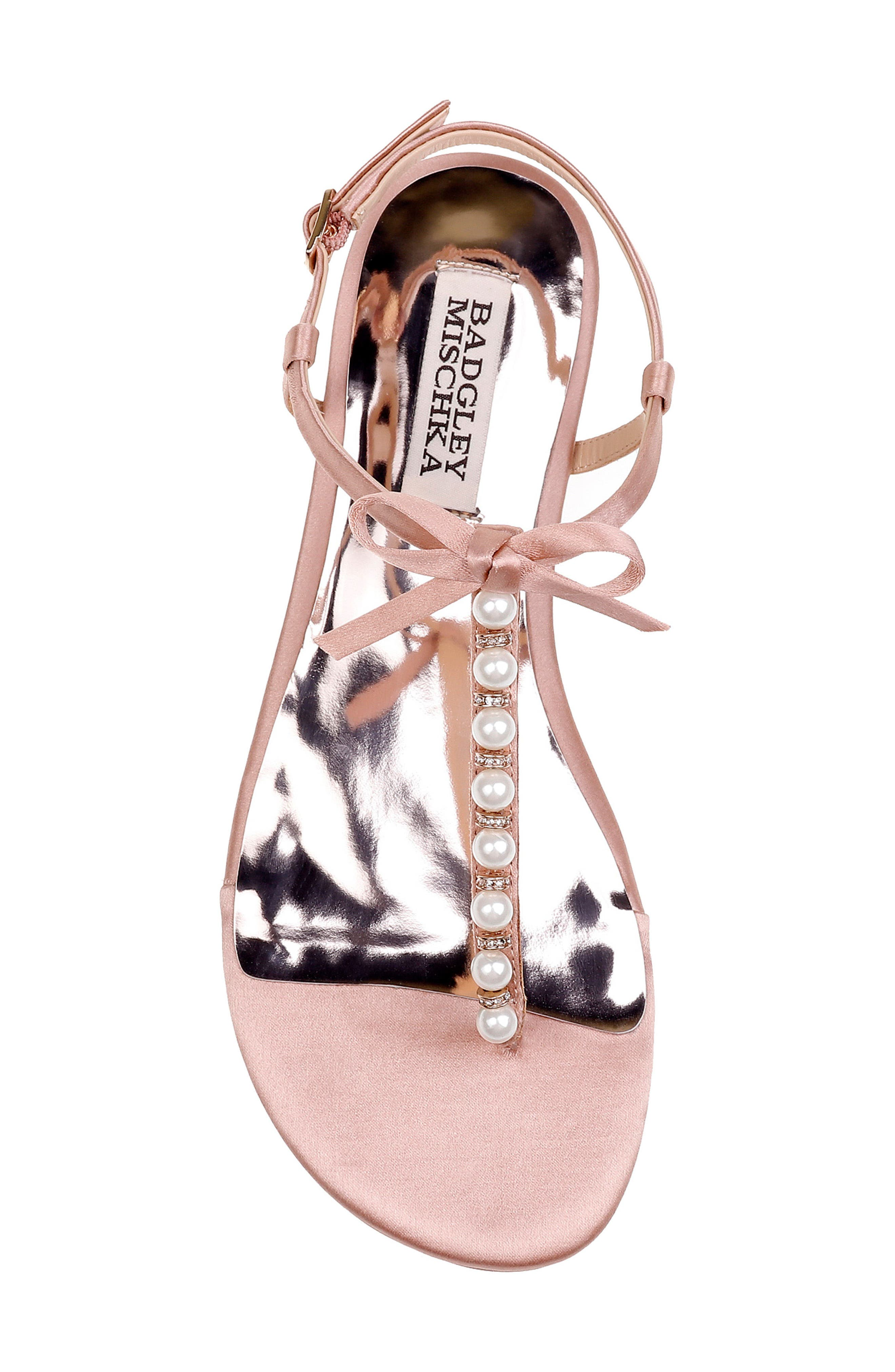 Honey Embellished Sandal,                             Alternate thumbnail 5, color,                             Dark Pink Satin