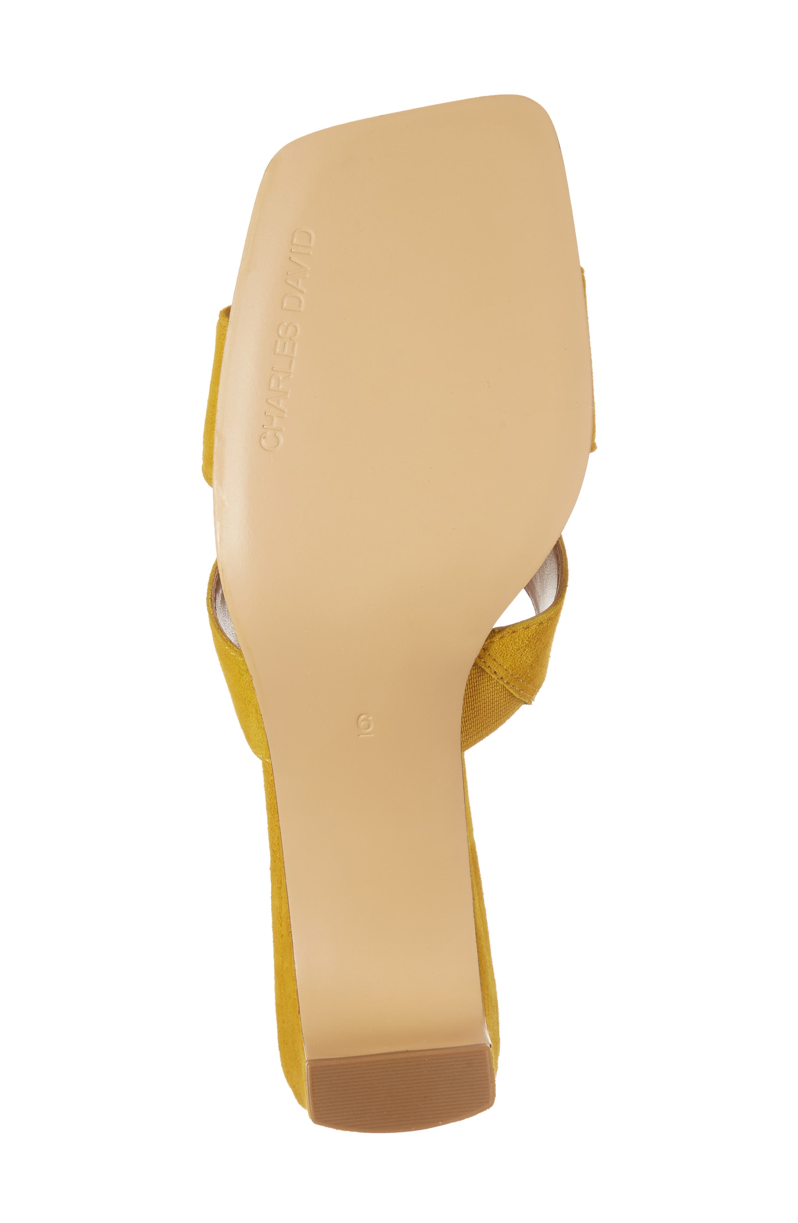 Harley Slide Sandal,                             Alternate thumbnail 6, color,                             Bright Yellow Suede
