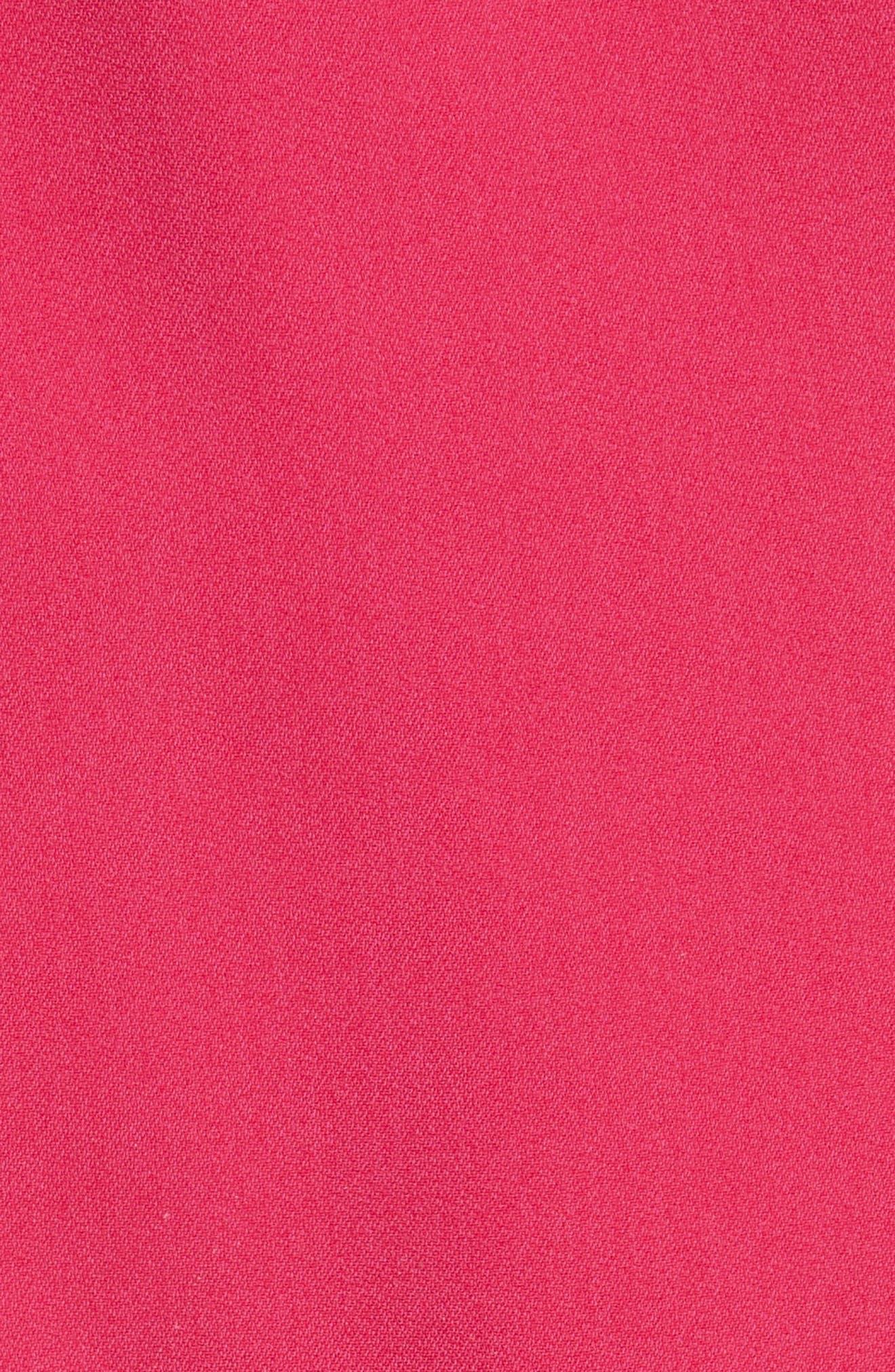 One-Shoulder Puff Sleeve Cady Dress,                             Alternate thumbnail 6, color,                             Bubble Gum