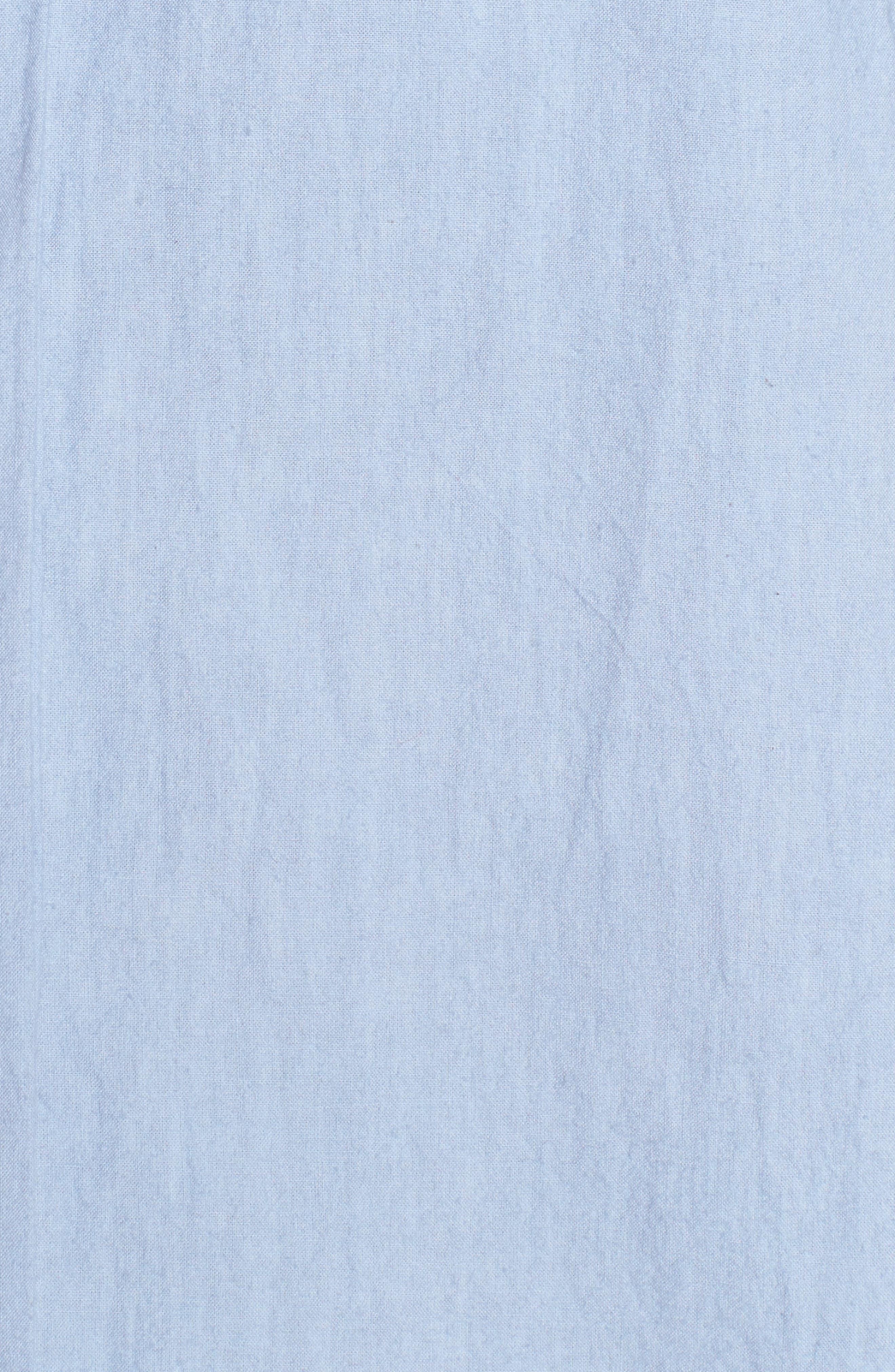 Cold Shoulder Ruffled Top,                             Alternate thumbnail 5, color,                             Blue