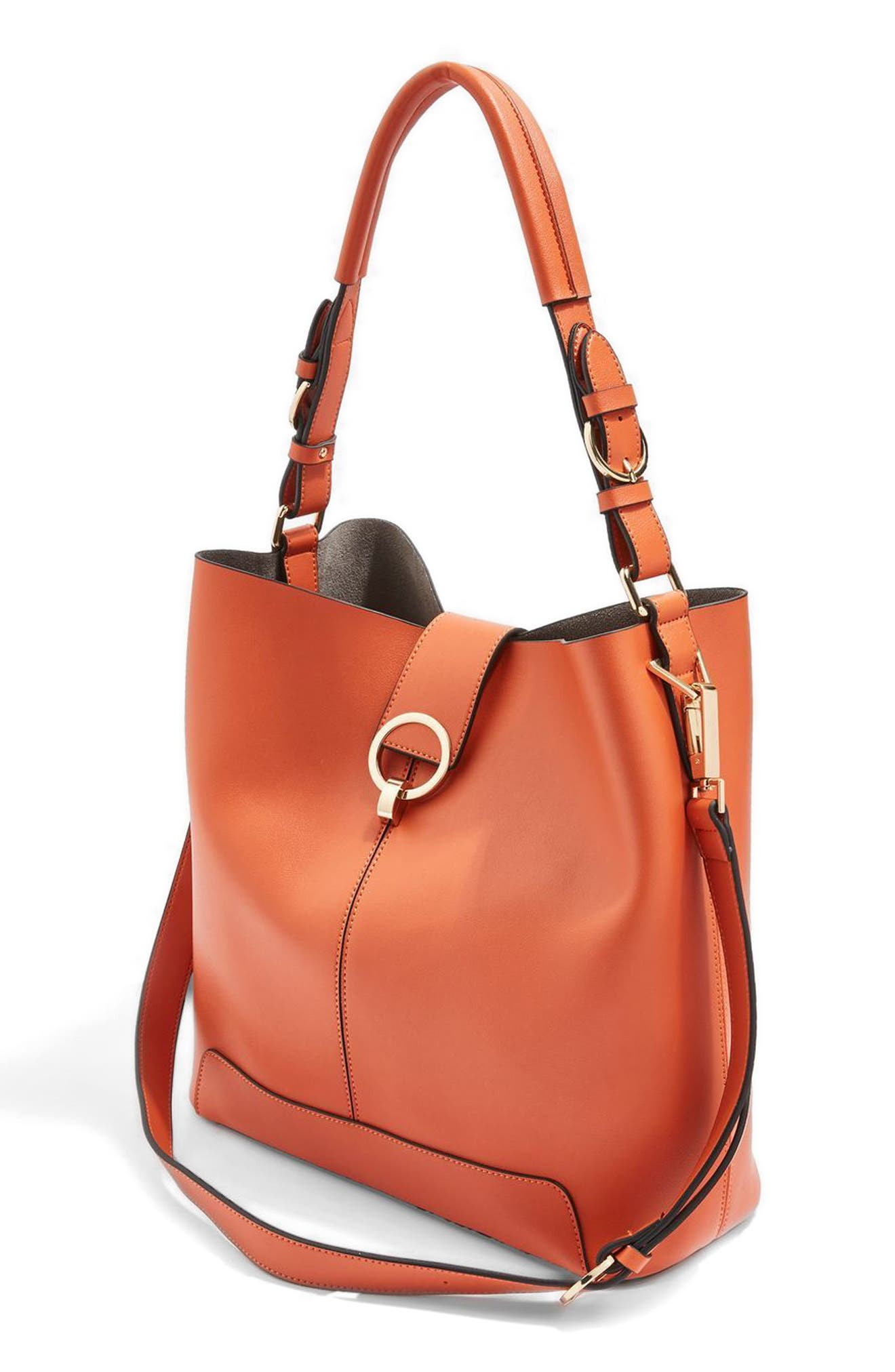 Alternate Image 3  - Topshop Harper Faux Leather Hobo