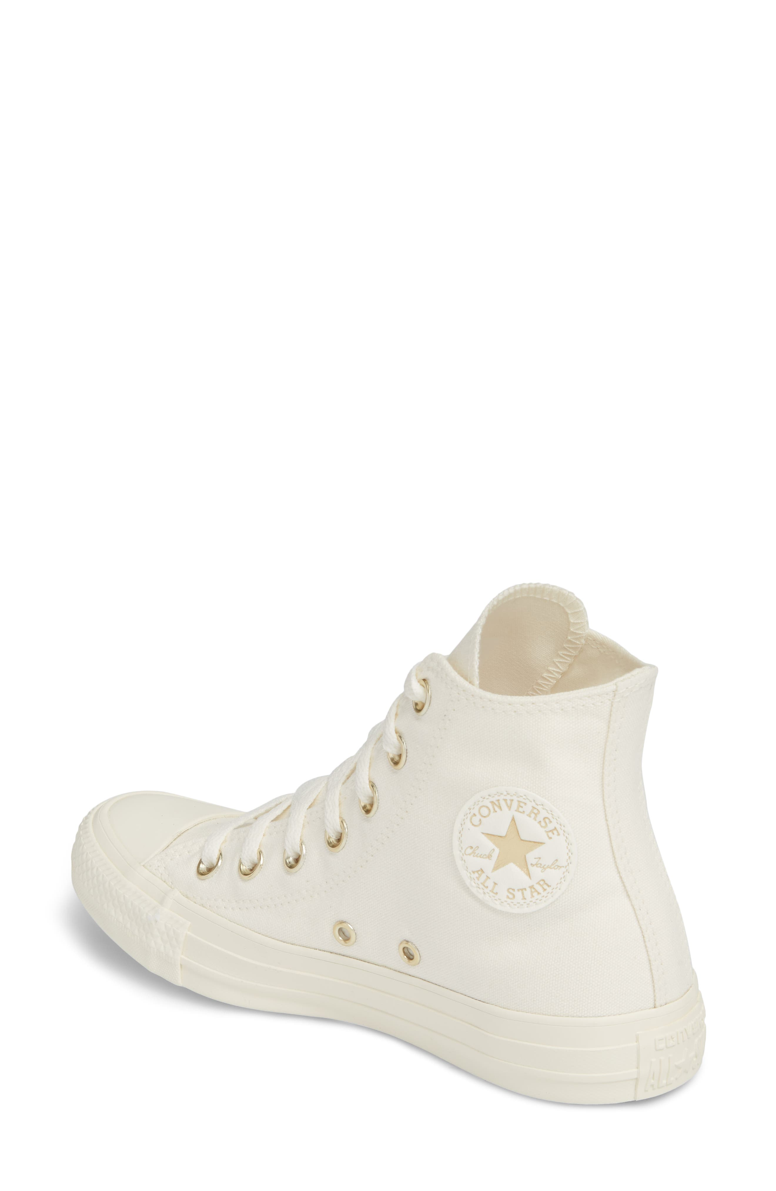 Chuck Taylor<sup>®</sup> All Star<sup>®</sup> Hi Sneaker,                             Alternate thumbnail 2, color,                             Egret