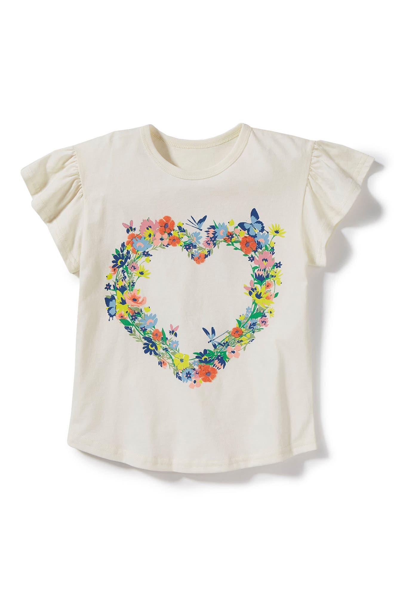 Peek Full Bloom Flutter Sleeve Tee (Toddler Girls, Little Girls & Big Girls)