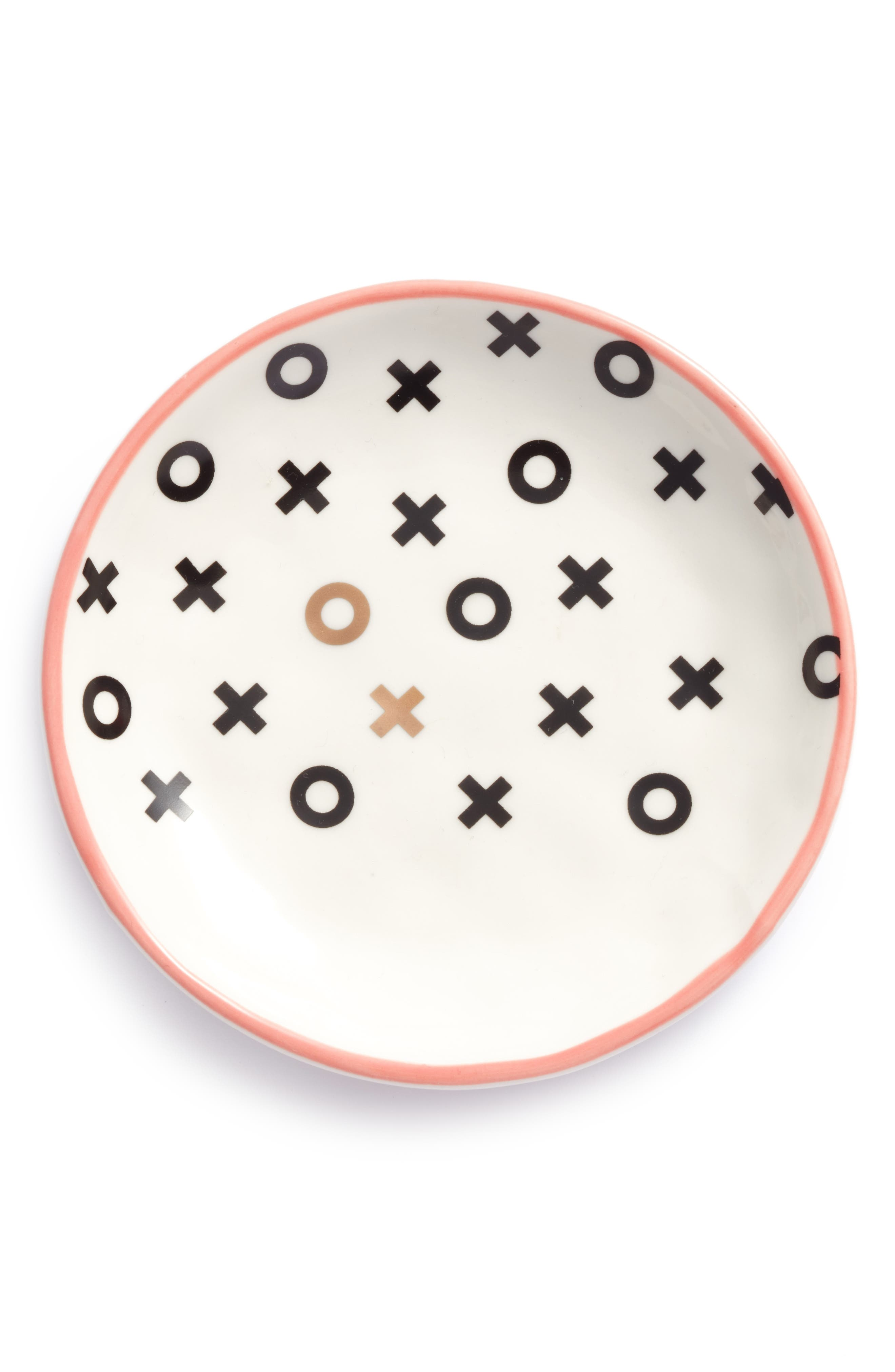 XO Stoneware Plate,                         Main,                         color, White